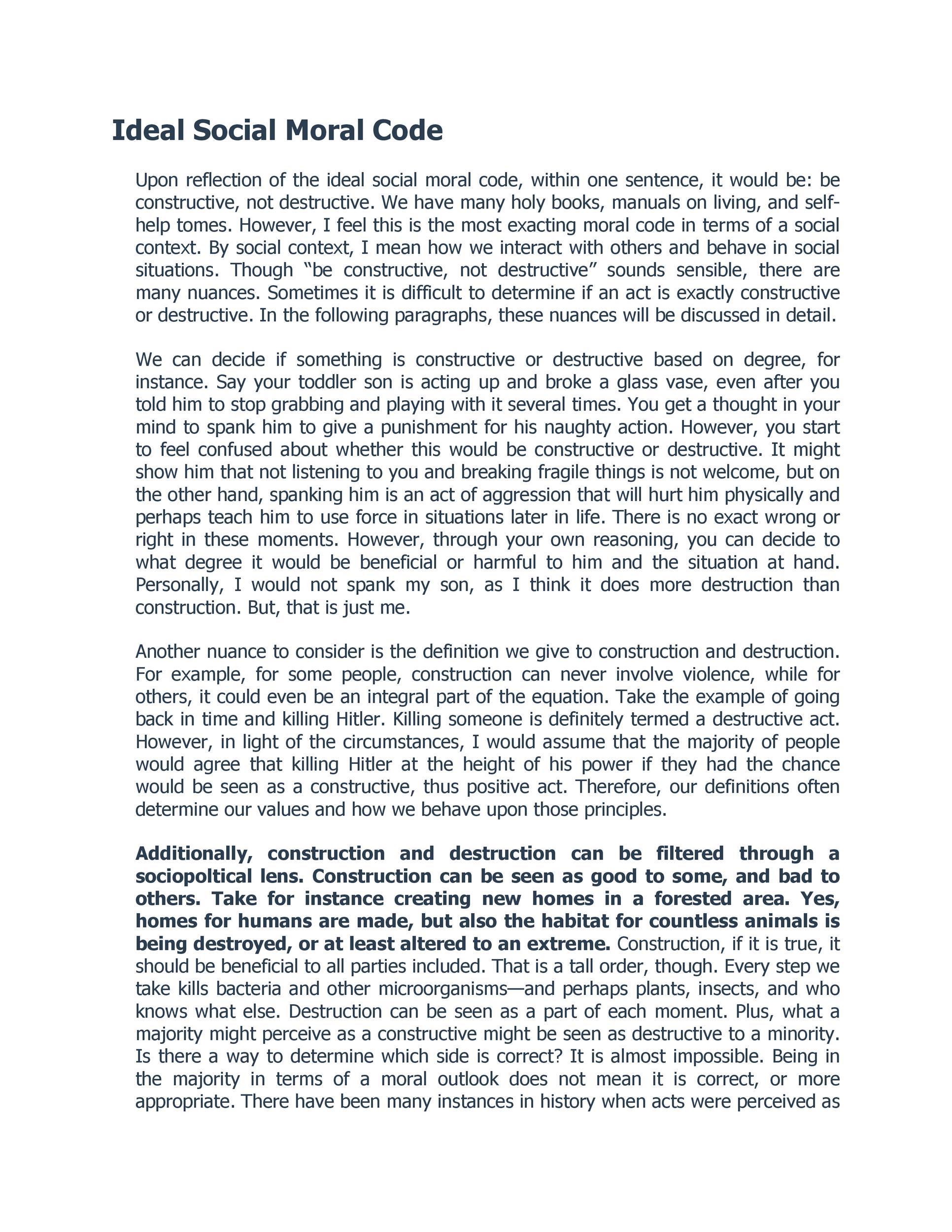 Free reflective essay example 42