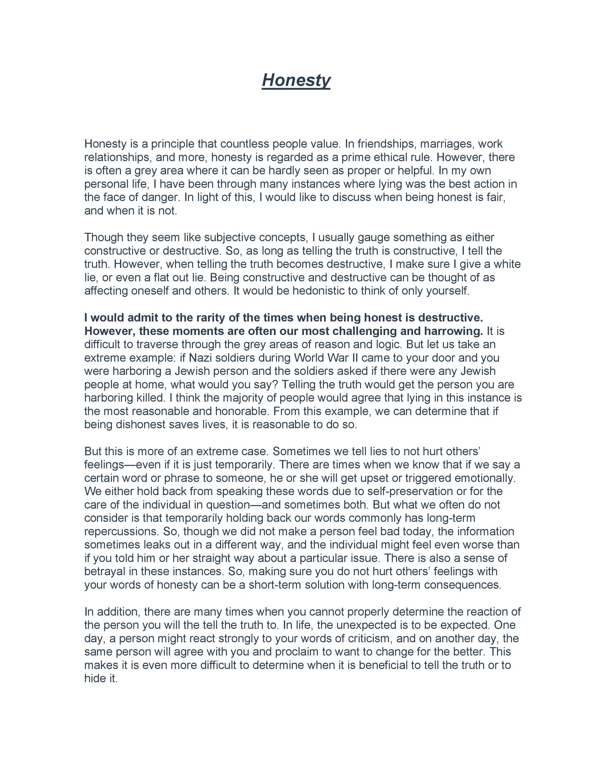 Free reflective essay example 44