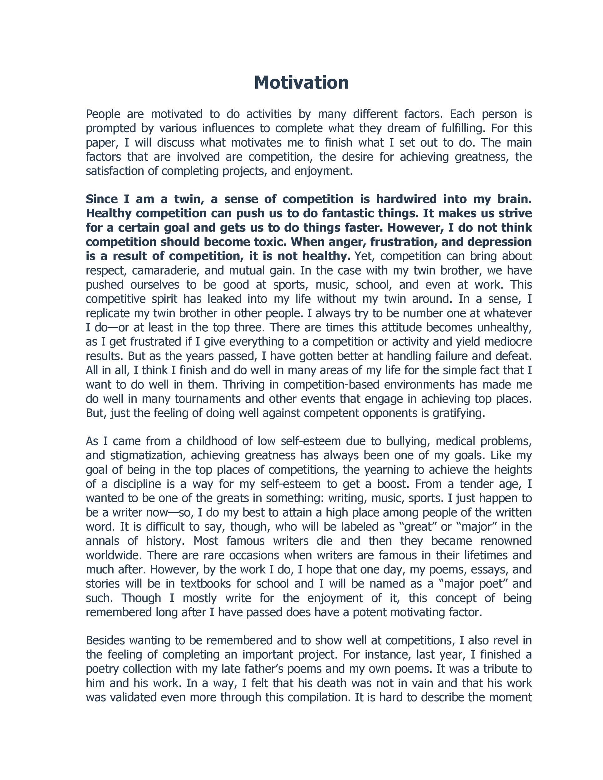 Free reflective essay example 48