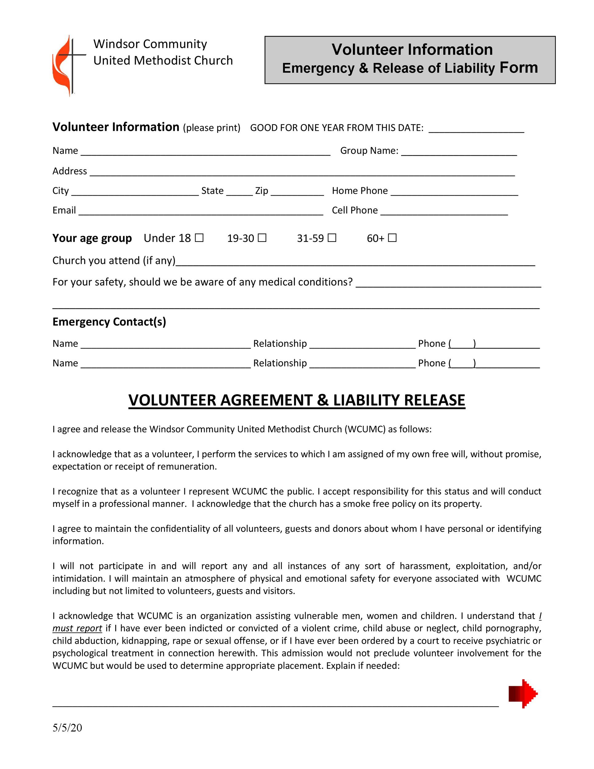 Free release of liability form 04