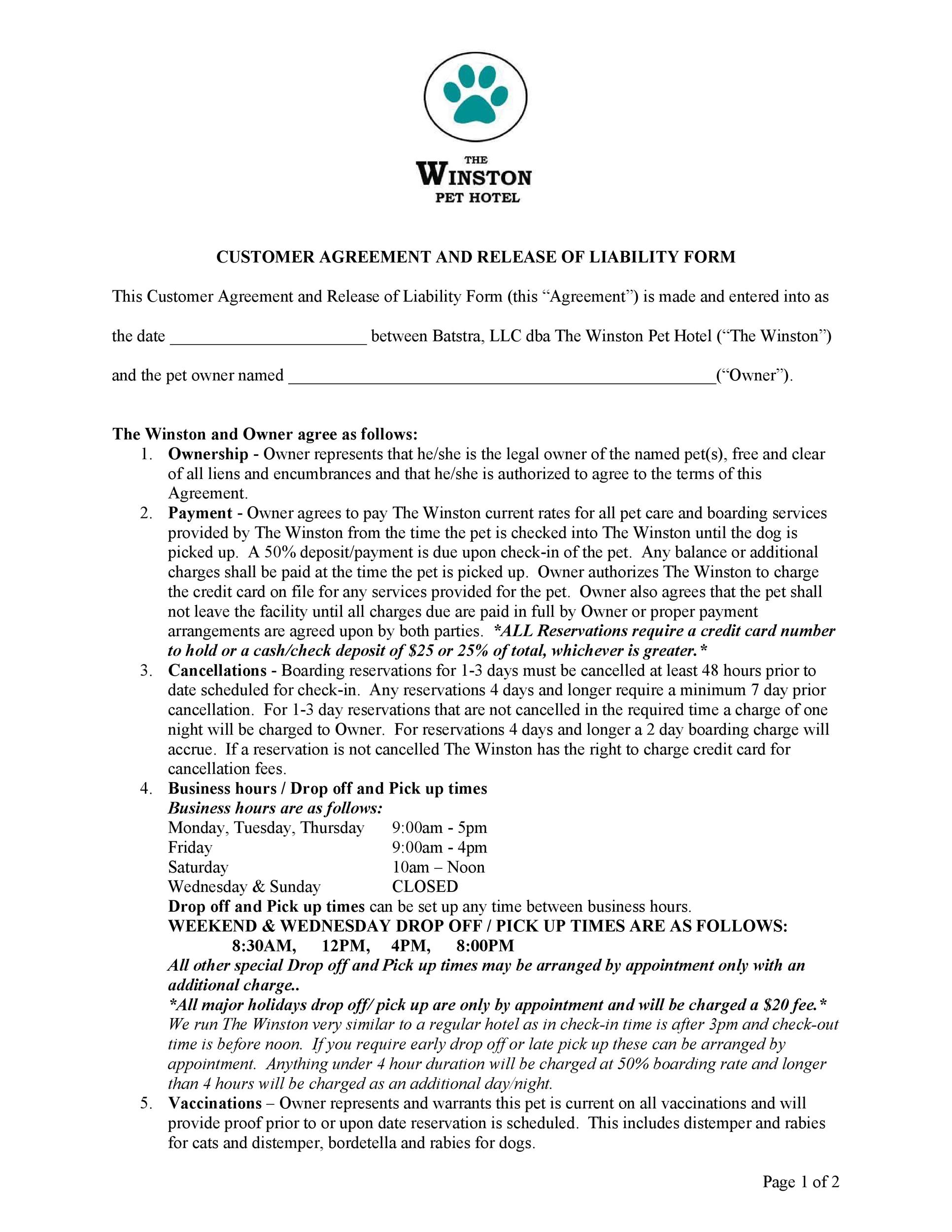 Free release of liability form 23