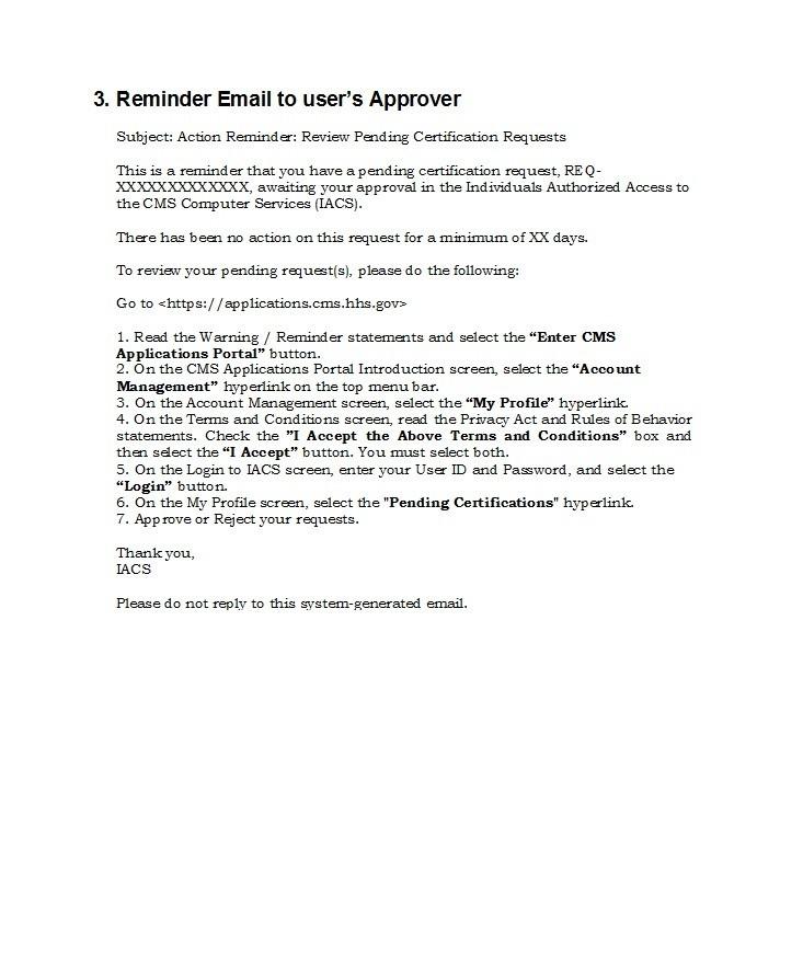 Free reminder email sample 14