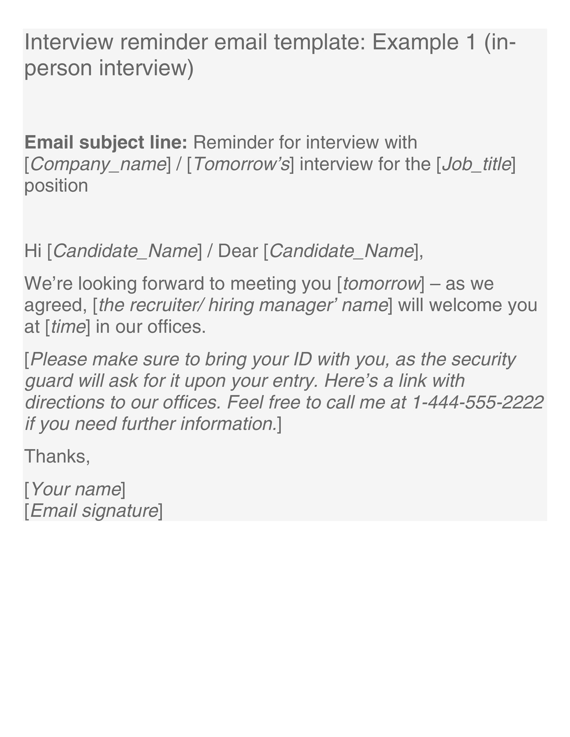 Free reminder email sample 26