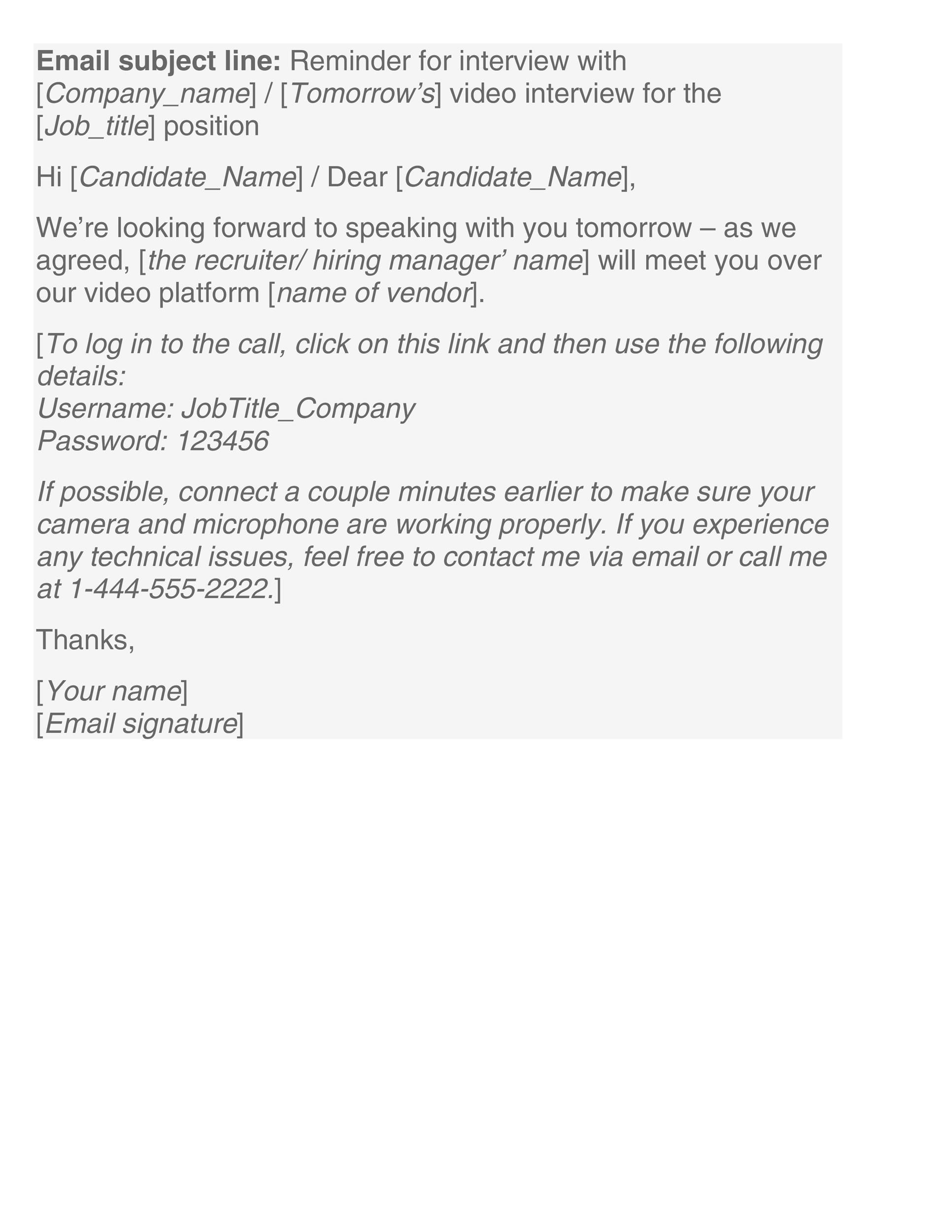 Free reminder email sample 27
