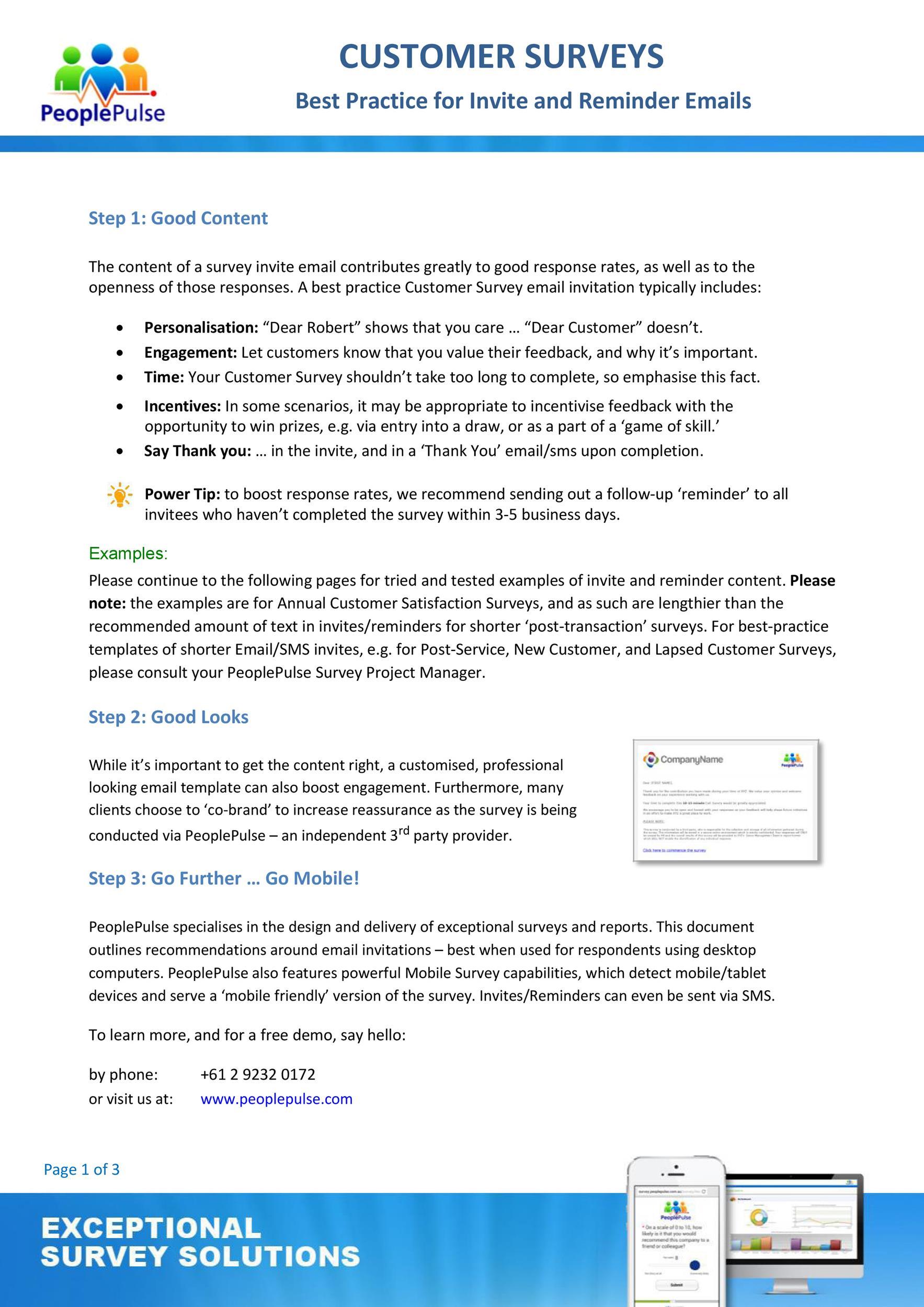 Free reminder email sample 36