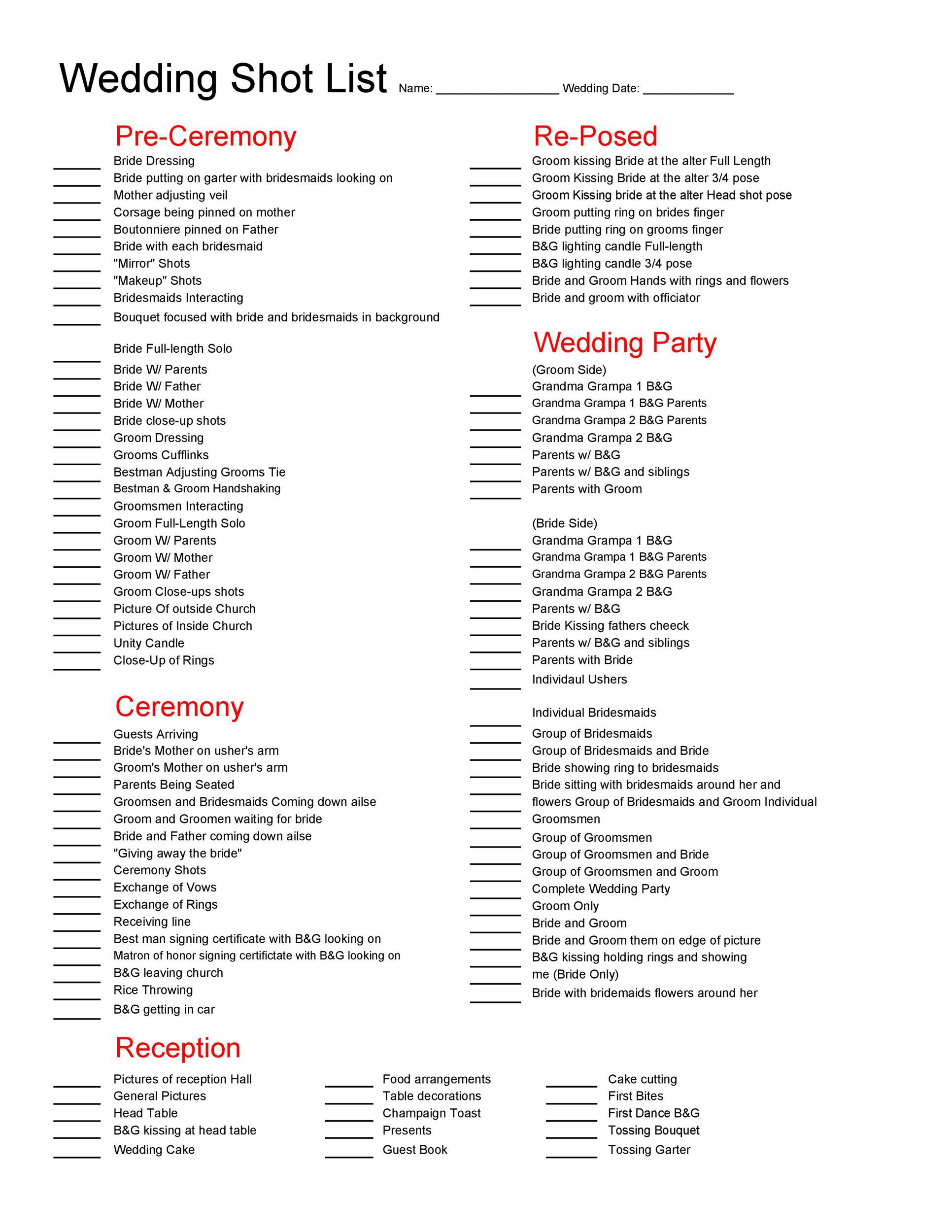 Free shot list template 05