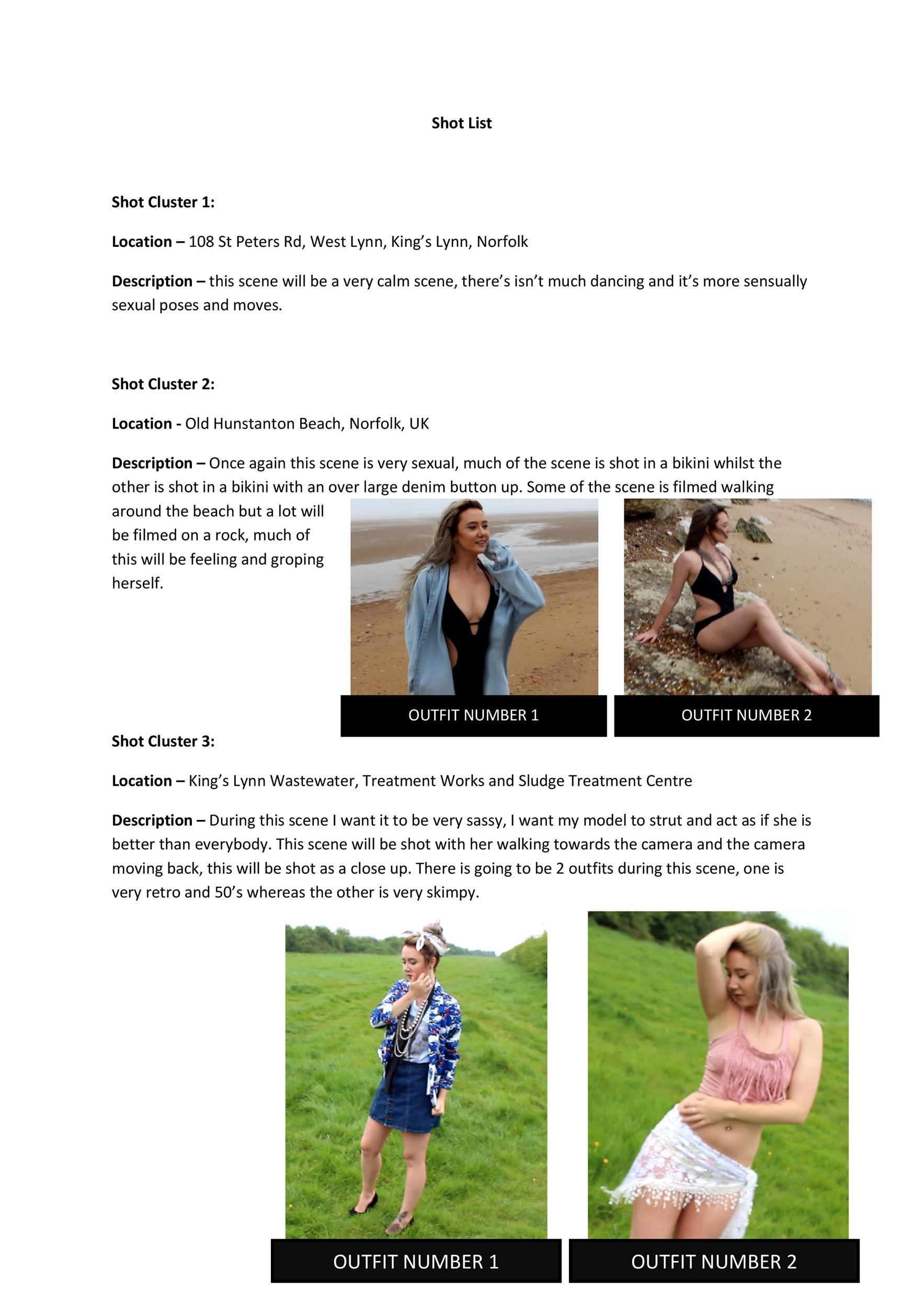 Free shot list template 44