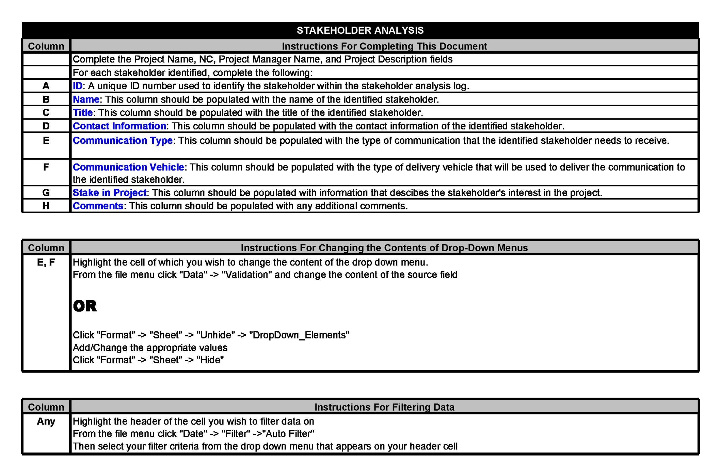 Free stakeholder analysis template 02