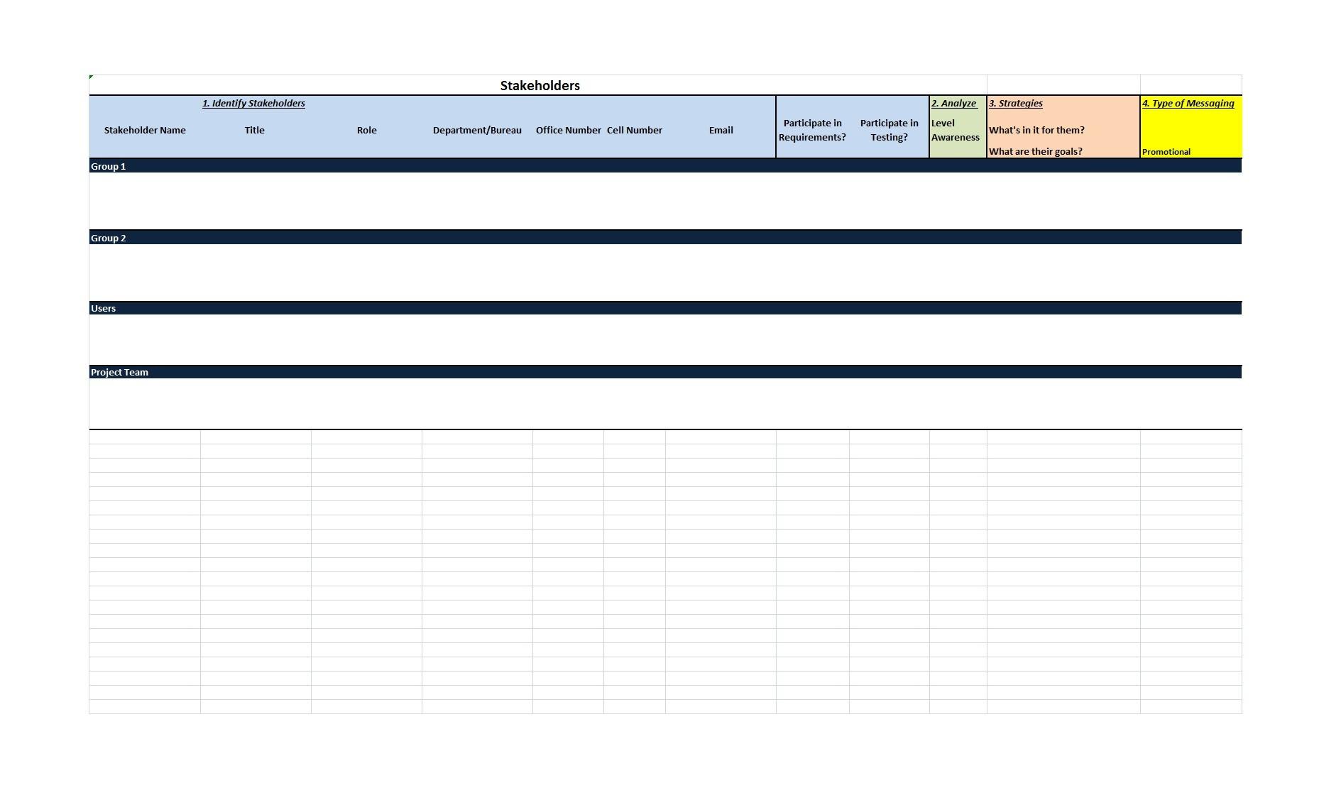 Free stakeholder analysis template 06