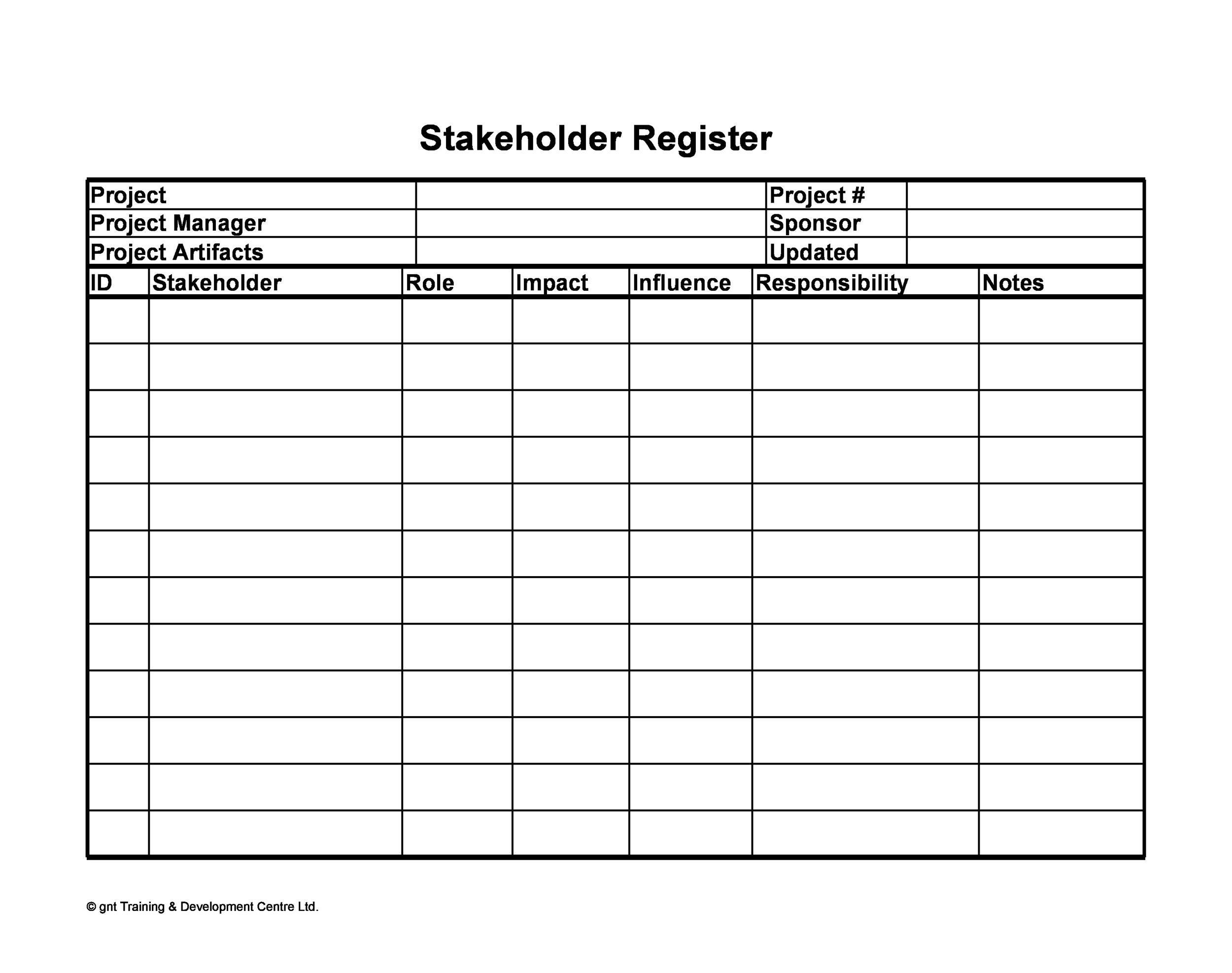 Free stakeholder analysis template 22