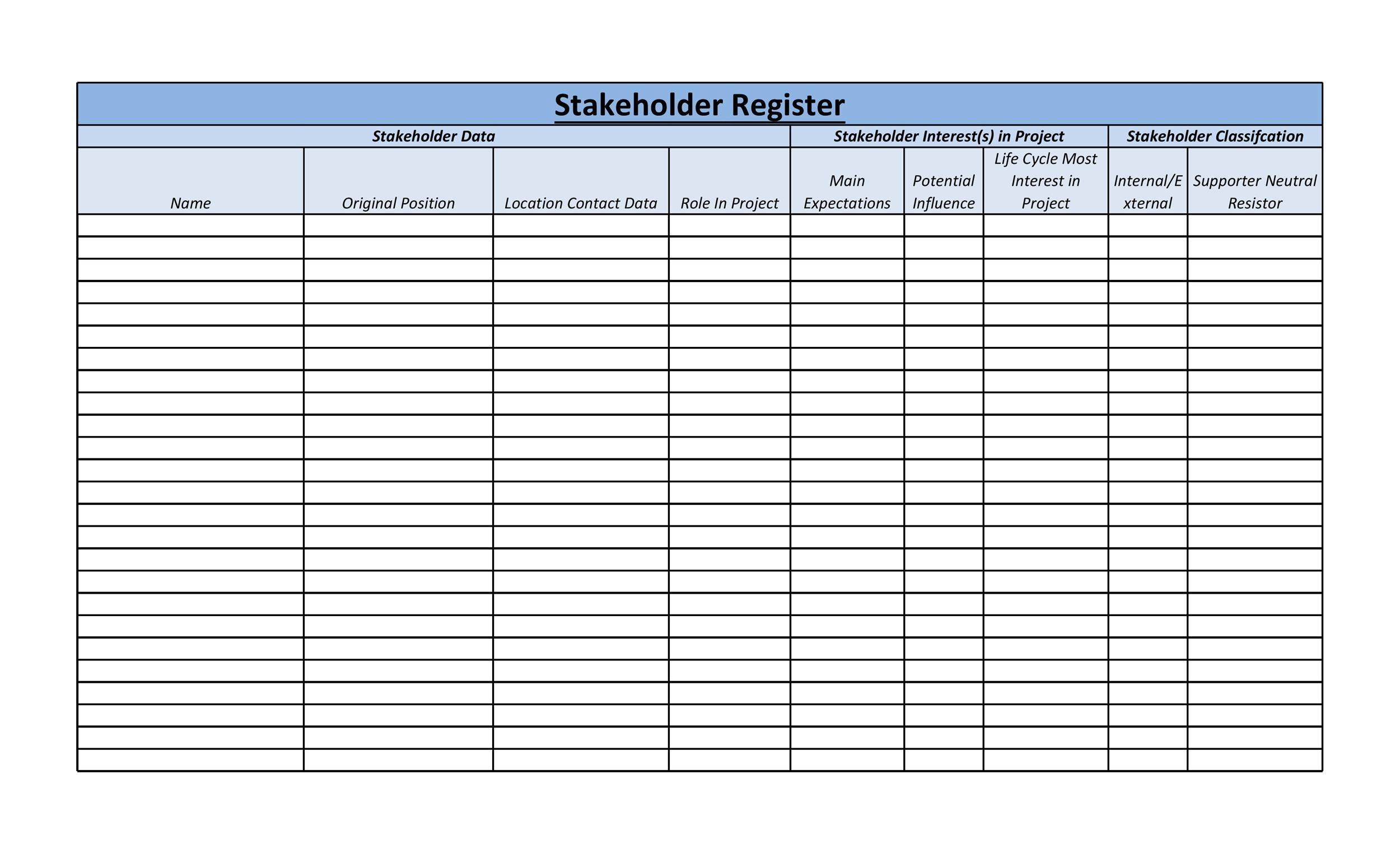 Free stakeholder analysis template 48