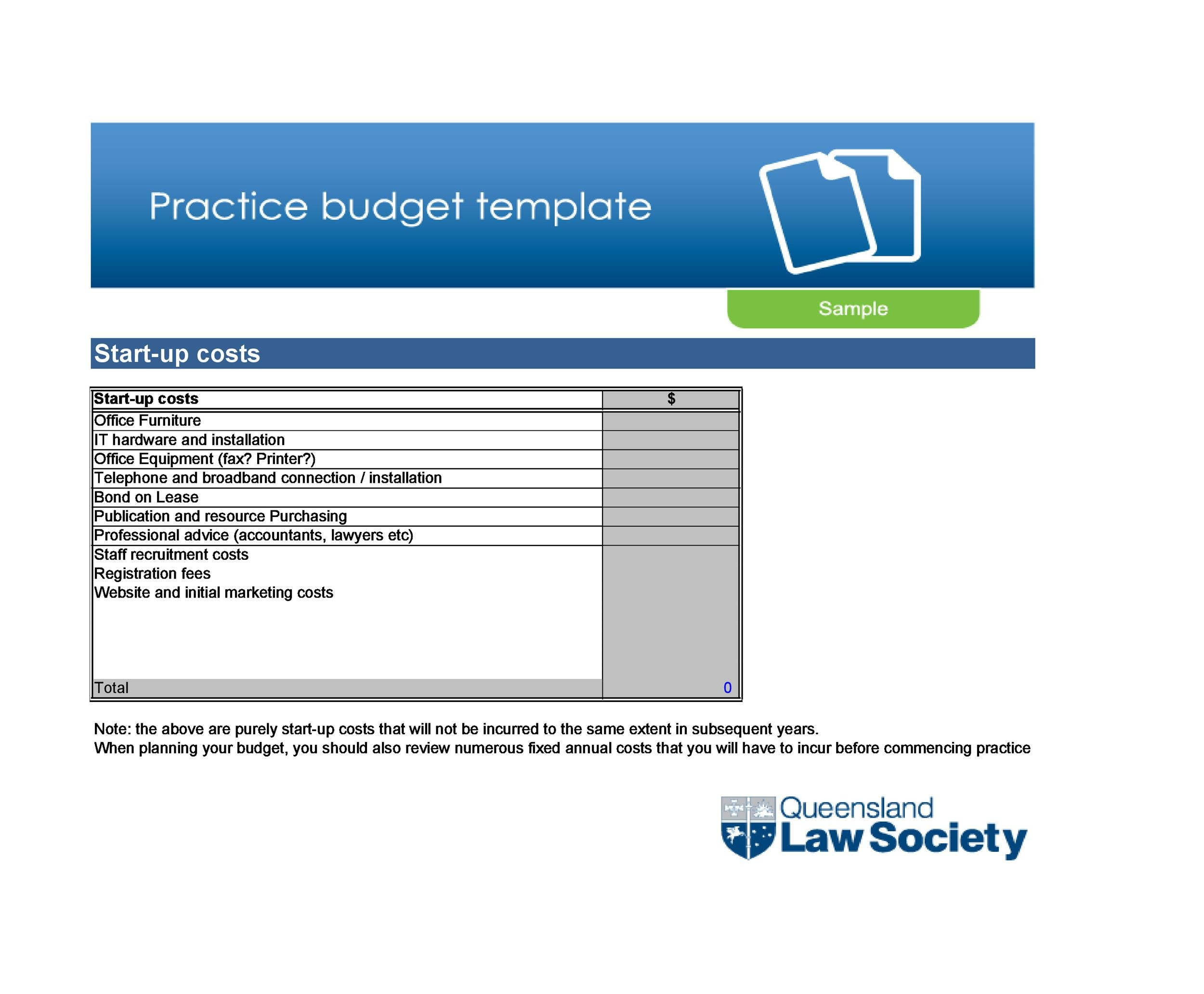 Free startup budget template 11