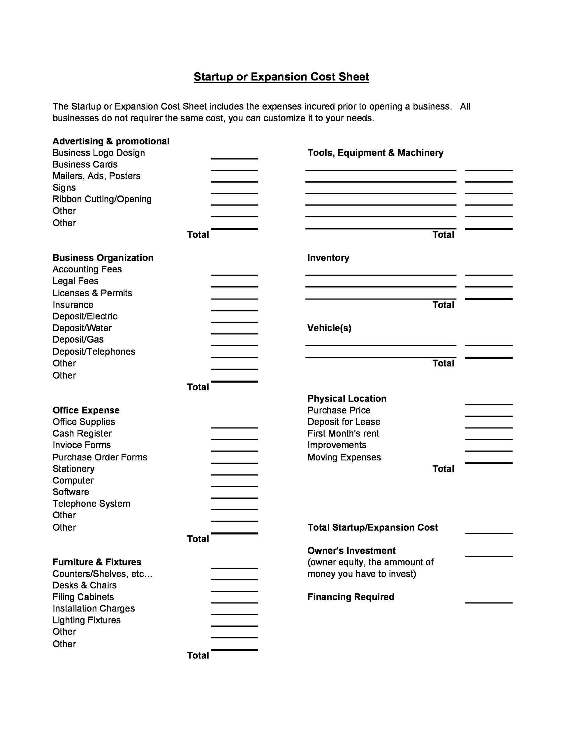 Free startup budget template 18