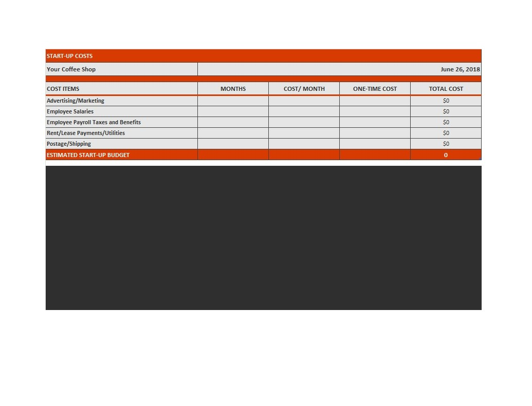 Free startup budget template 21