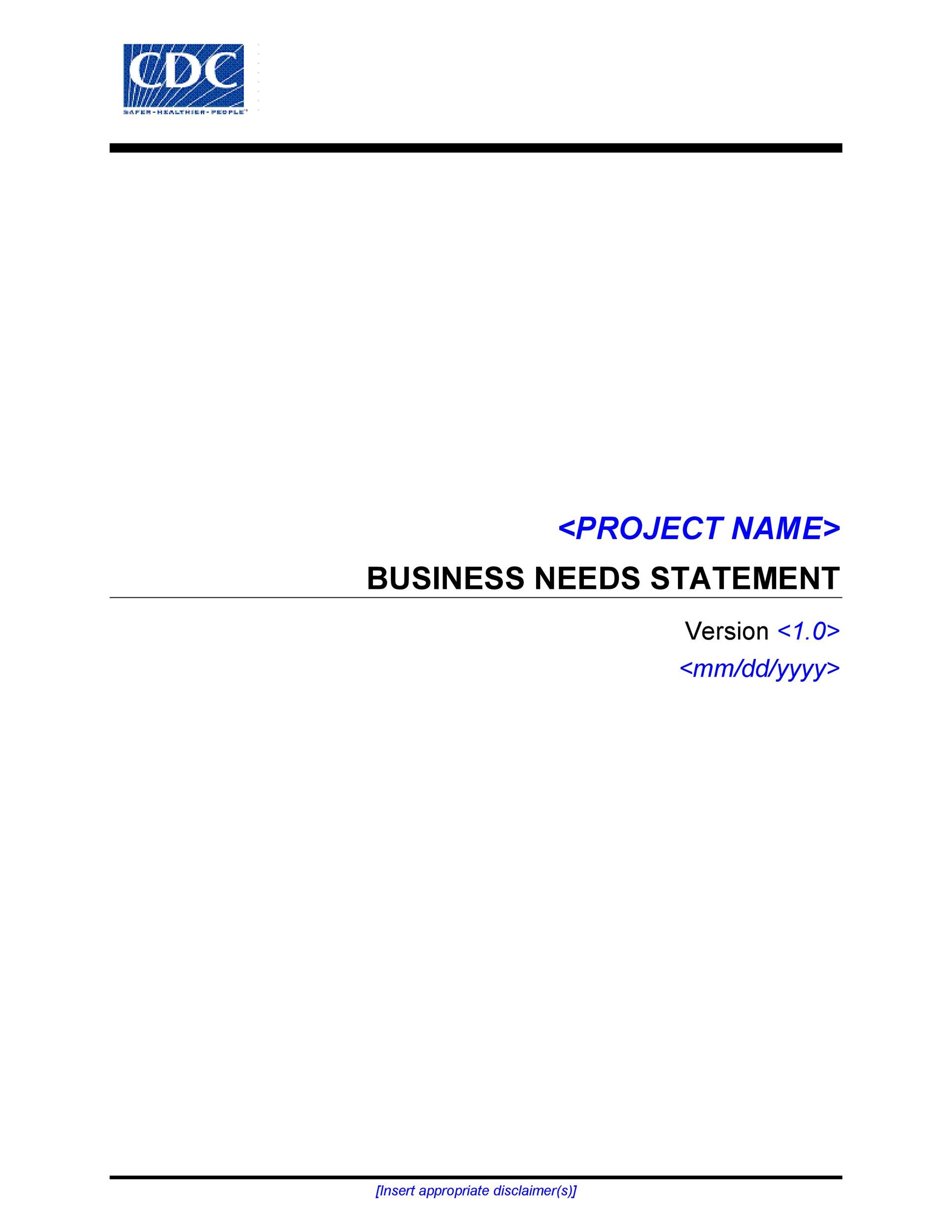 Free statement of need template 02