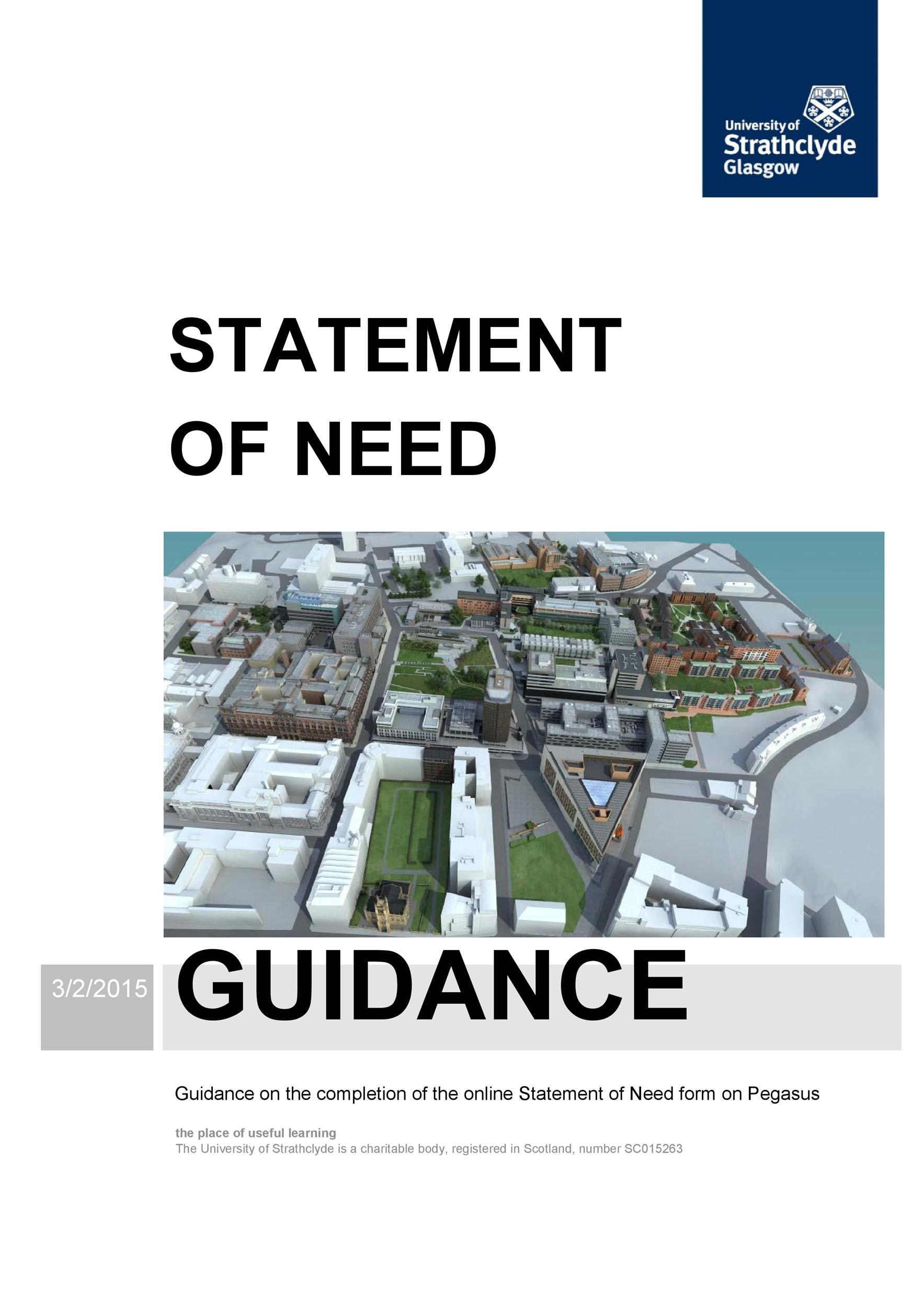 Free statement of need template 44