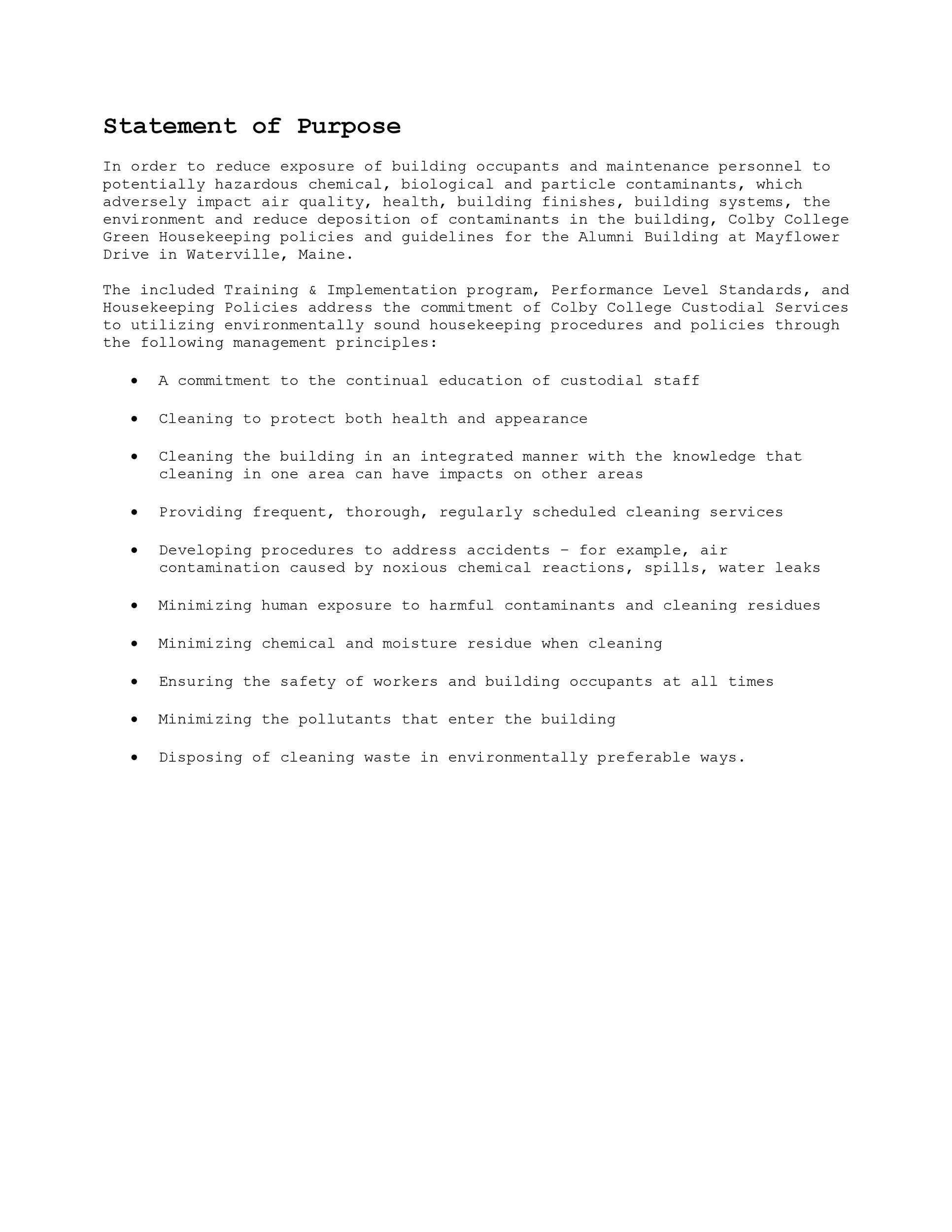 Free statement of purpose example 35