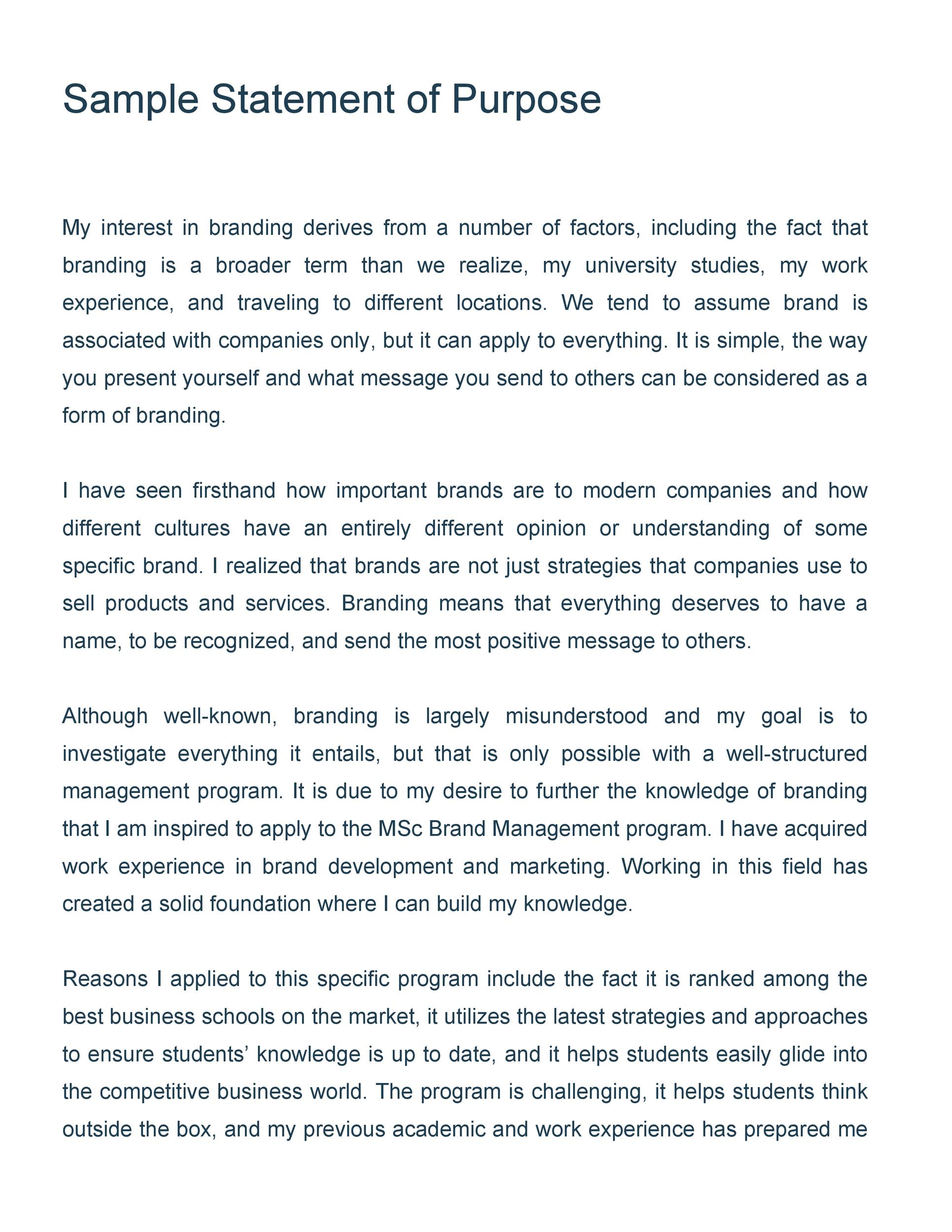 Personal statement essay for international student