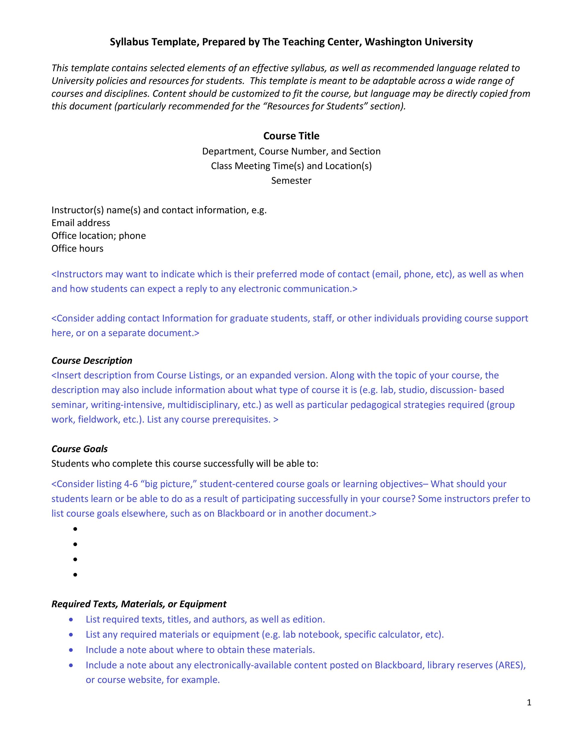 47 Editable Syllabus Templates Course Syllabus ᐅ Template Lab