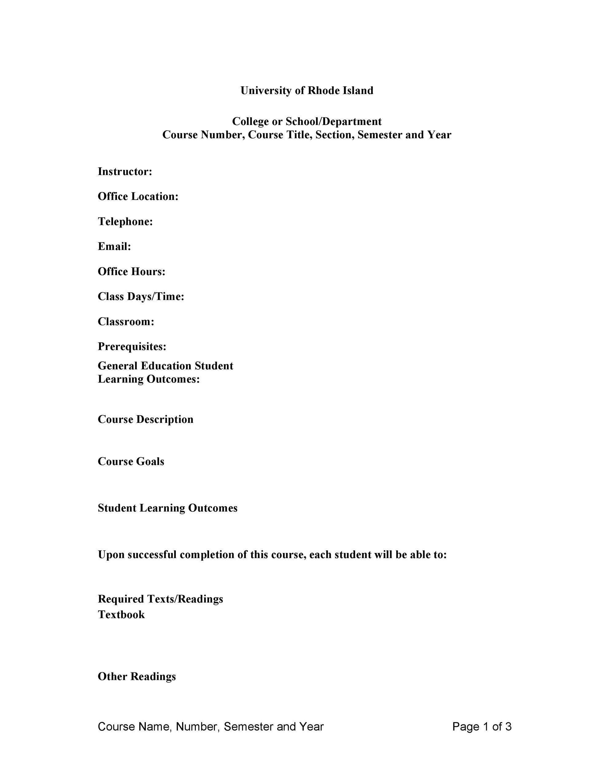 Free sylabus template 02