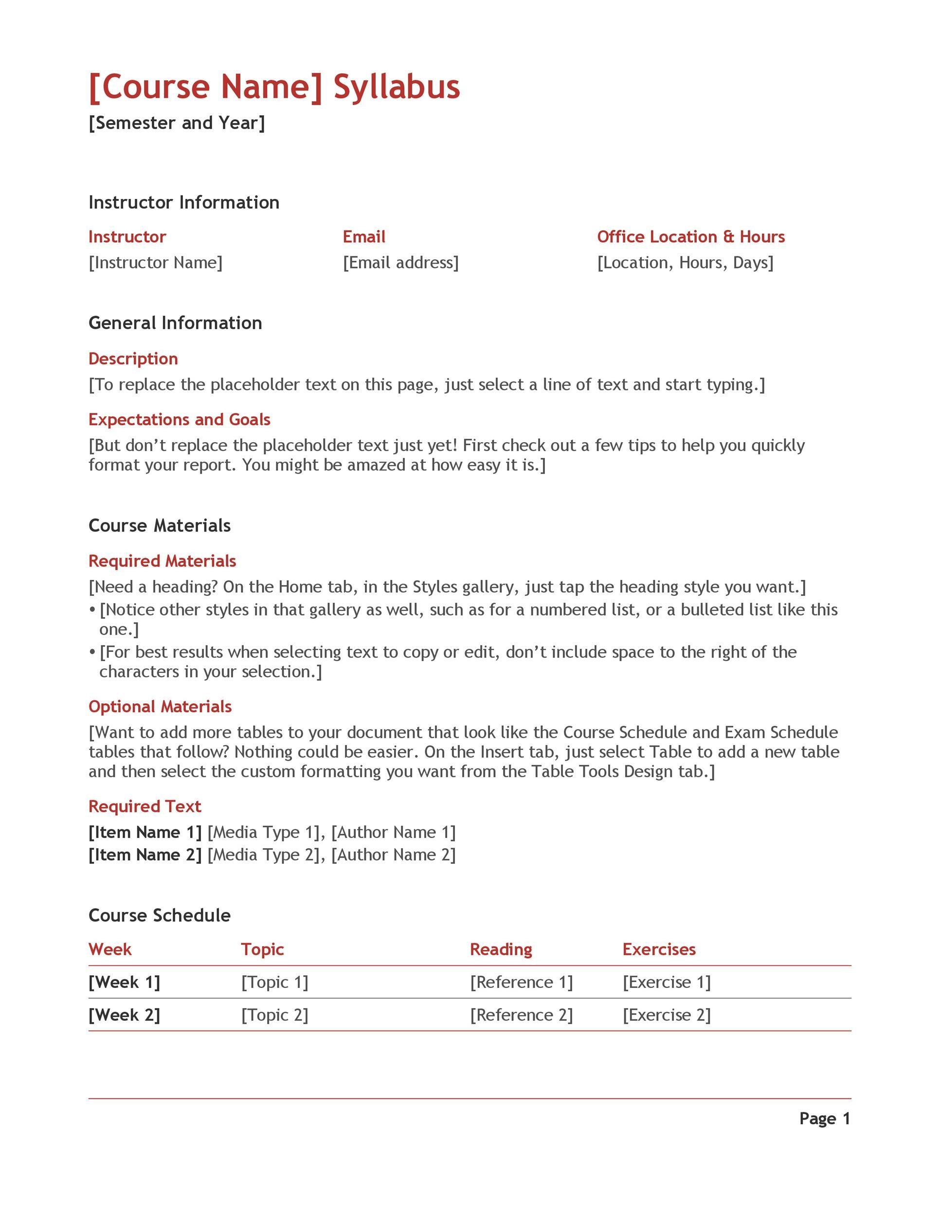 Free sylabus template 04