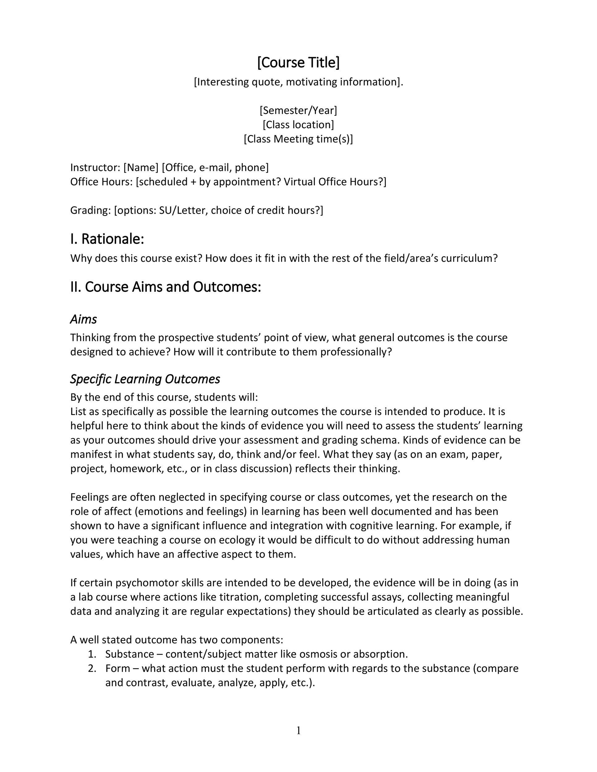 Free sylabus template 06