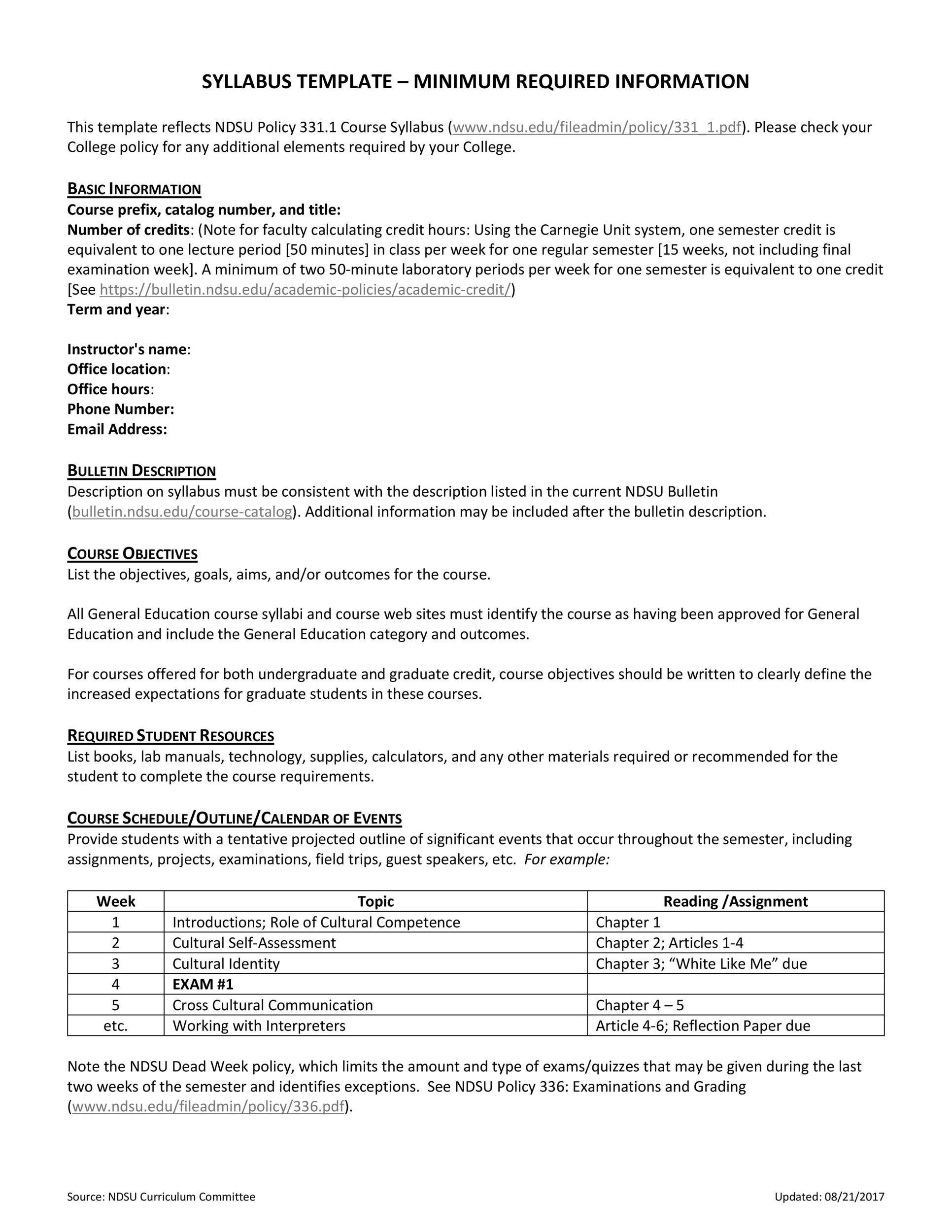 Free sylabus template 07