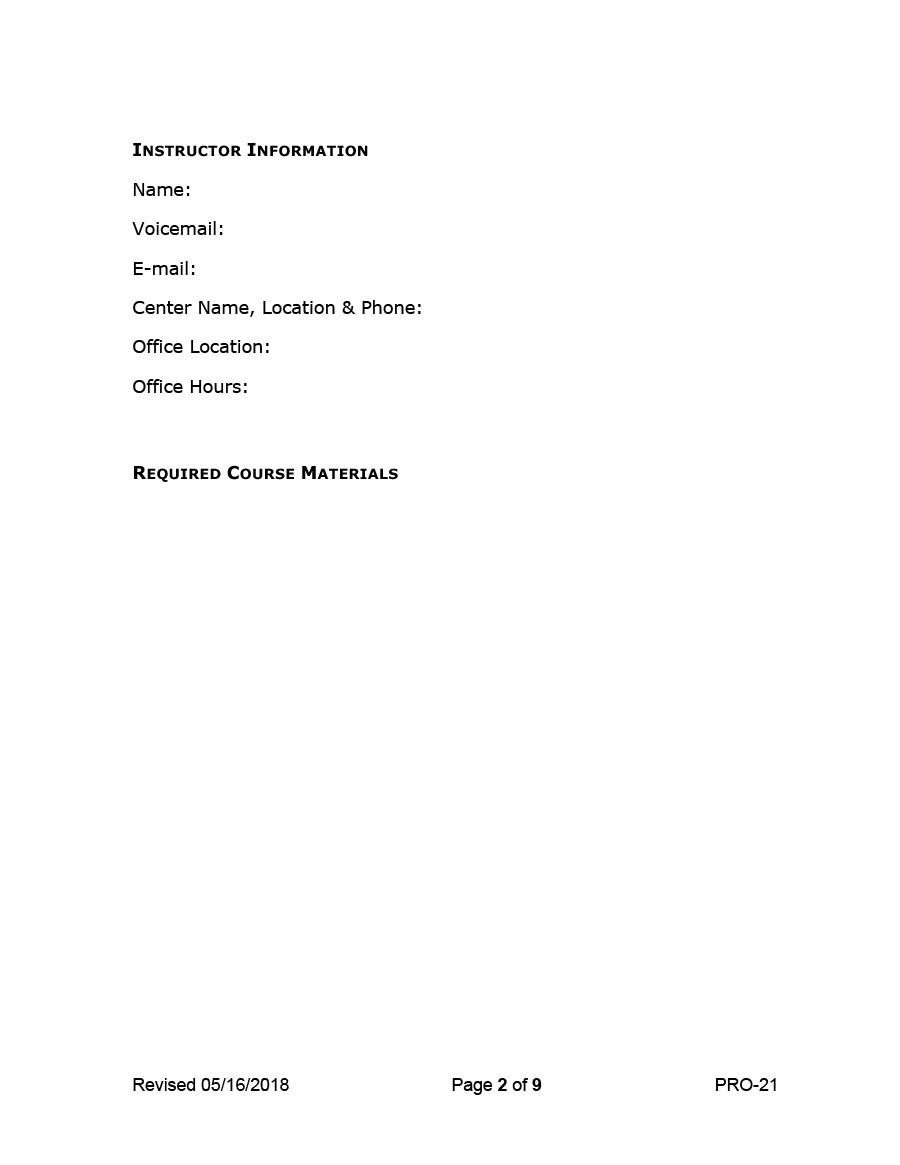 Free sylabus template 27