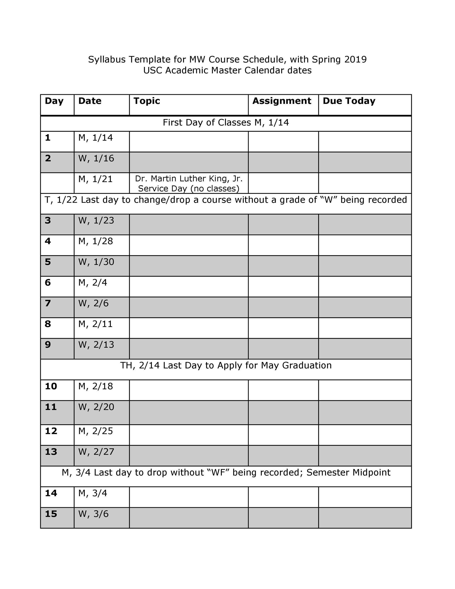 Free sylabus template 30