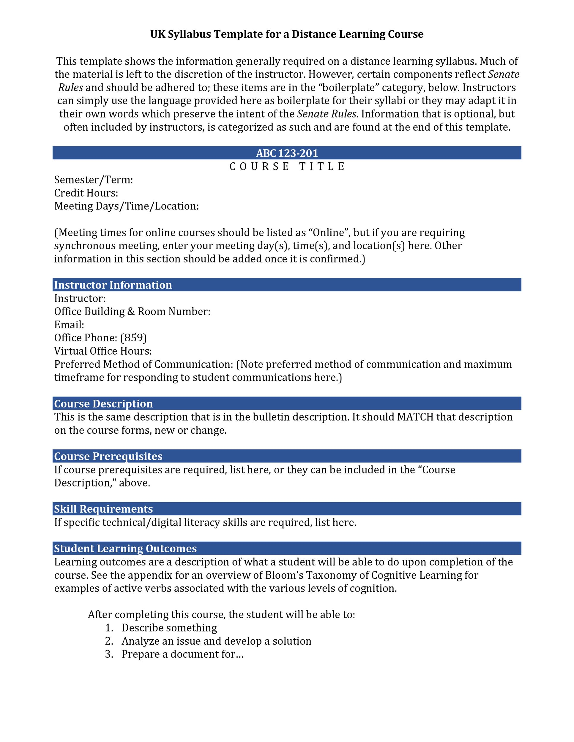 Free sylabus template 34