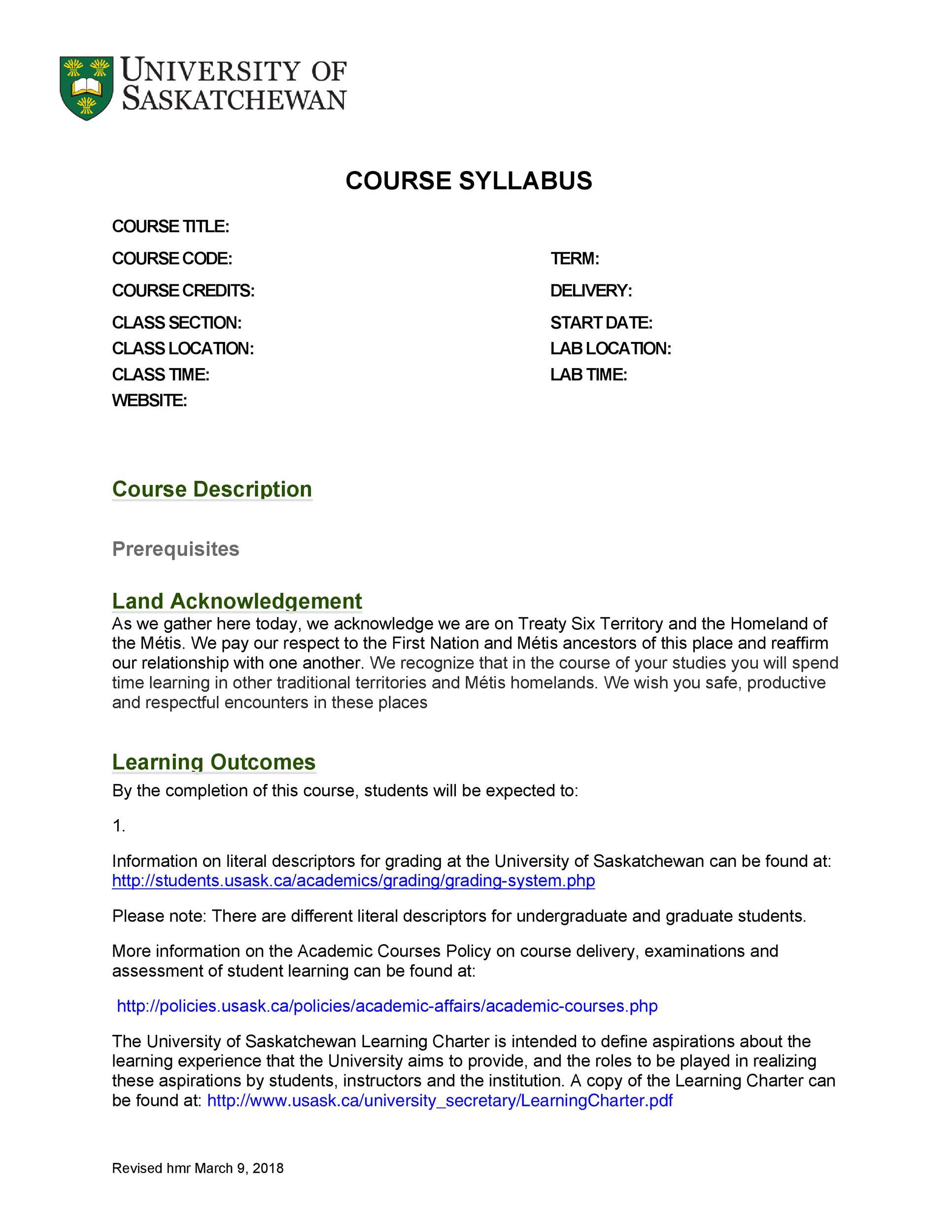 Free sylabus template 40