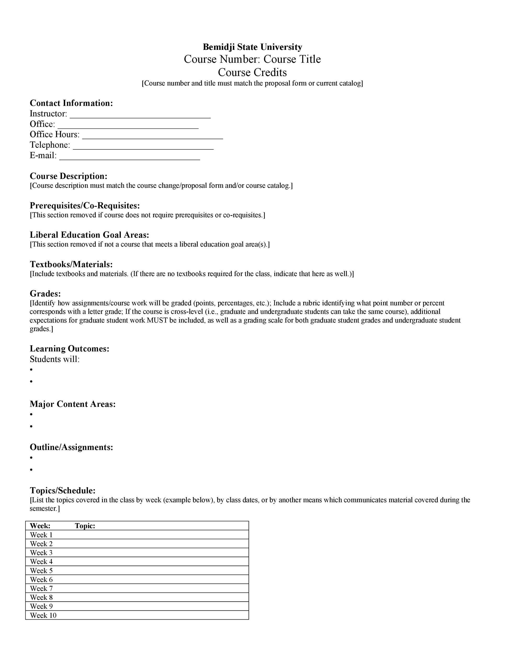 Free sylabus template 43