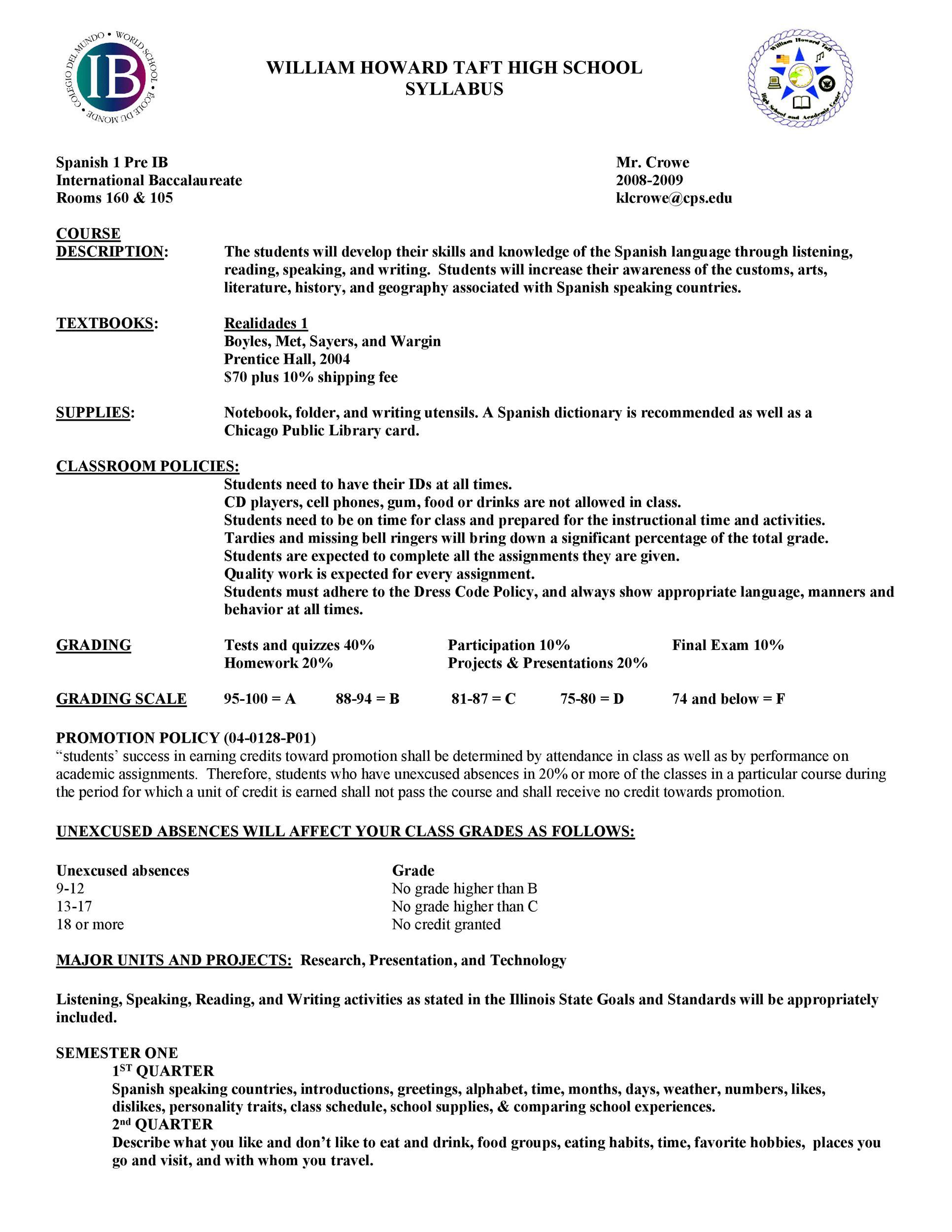 Free sylabus template 45