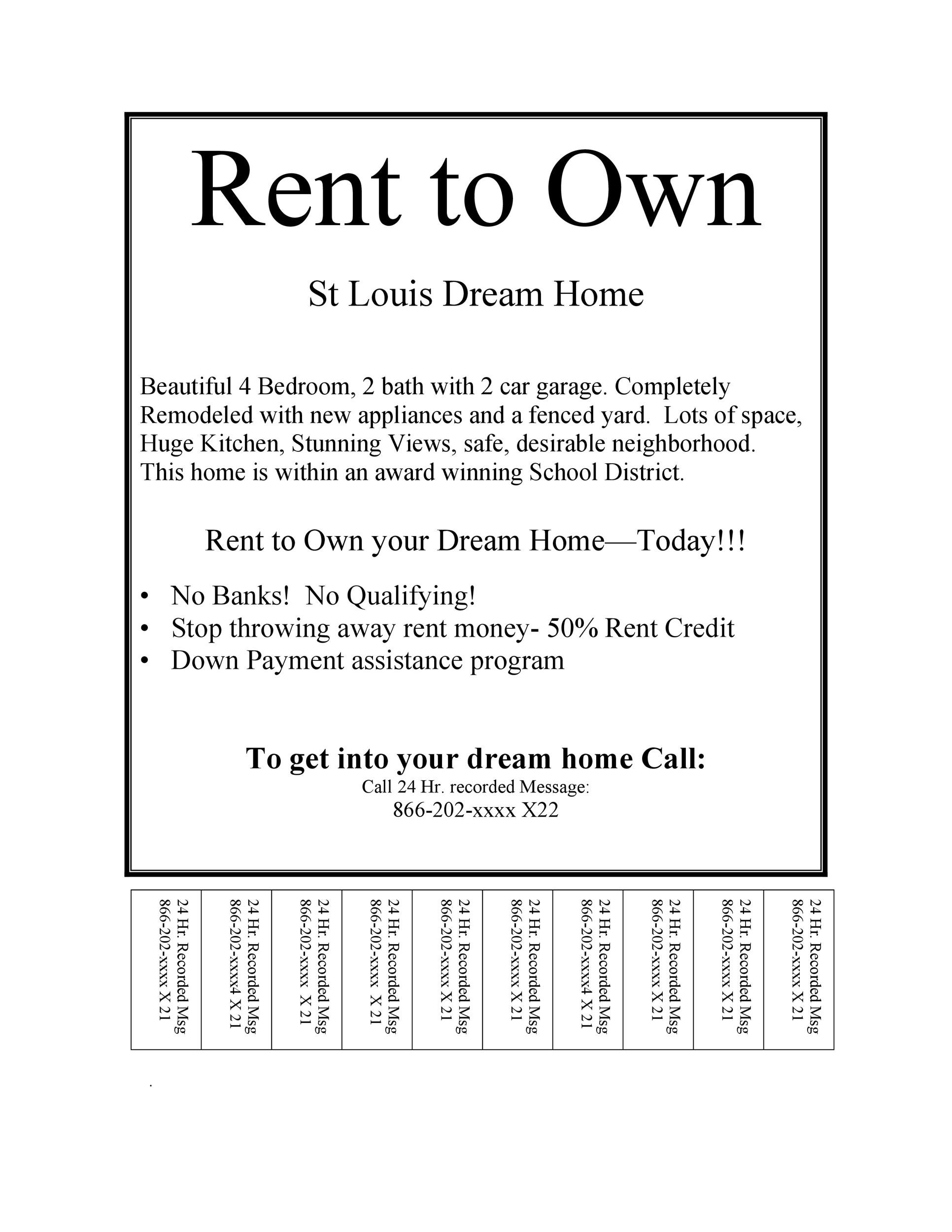 Free tear off flyer 27