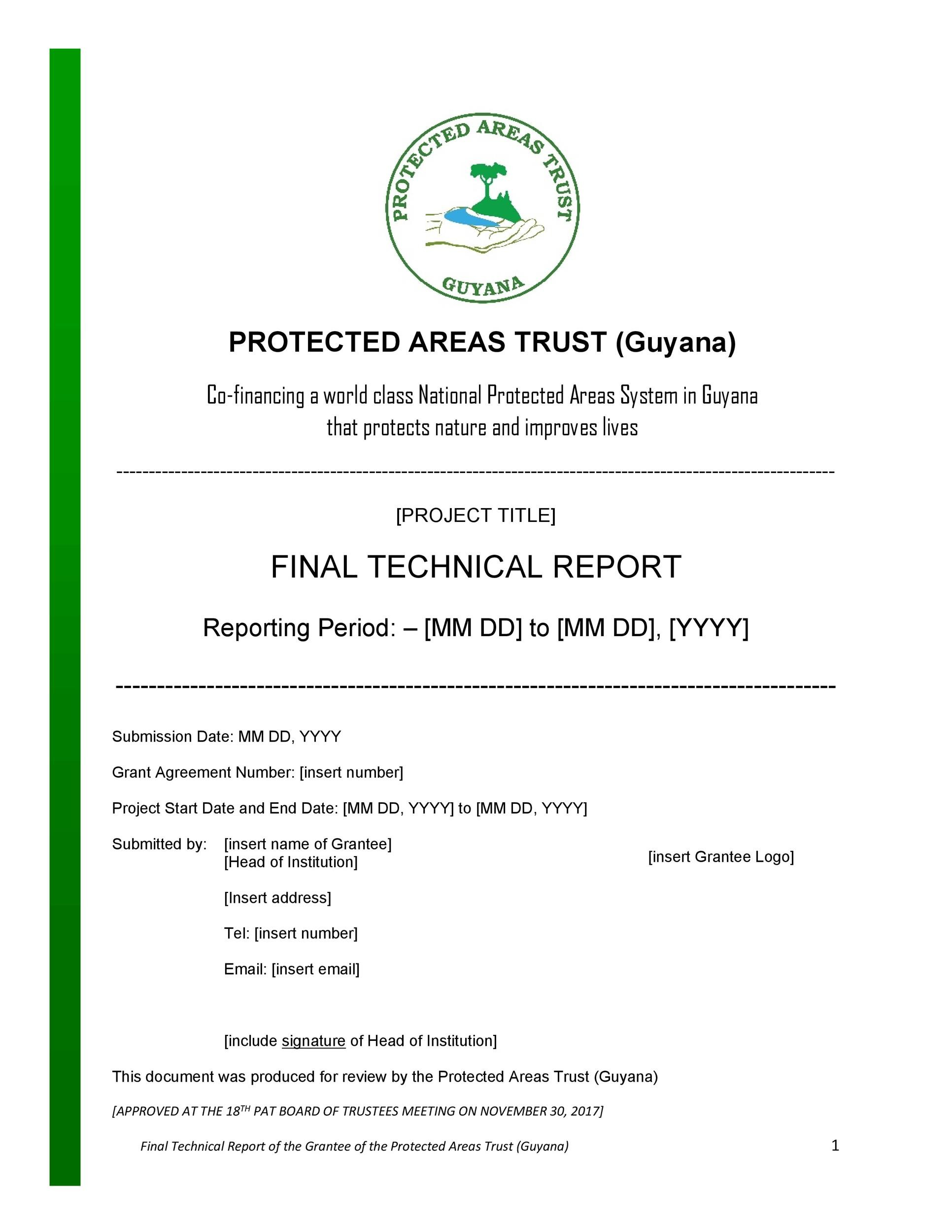 Free technical report template 07