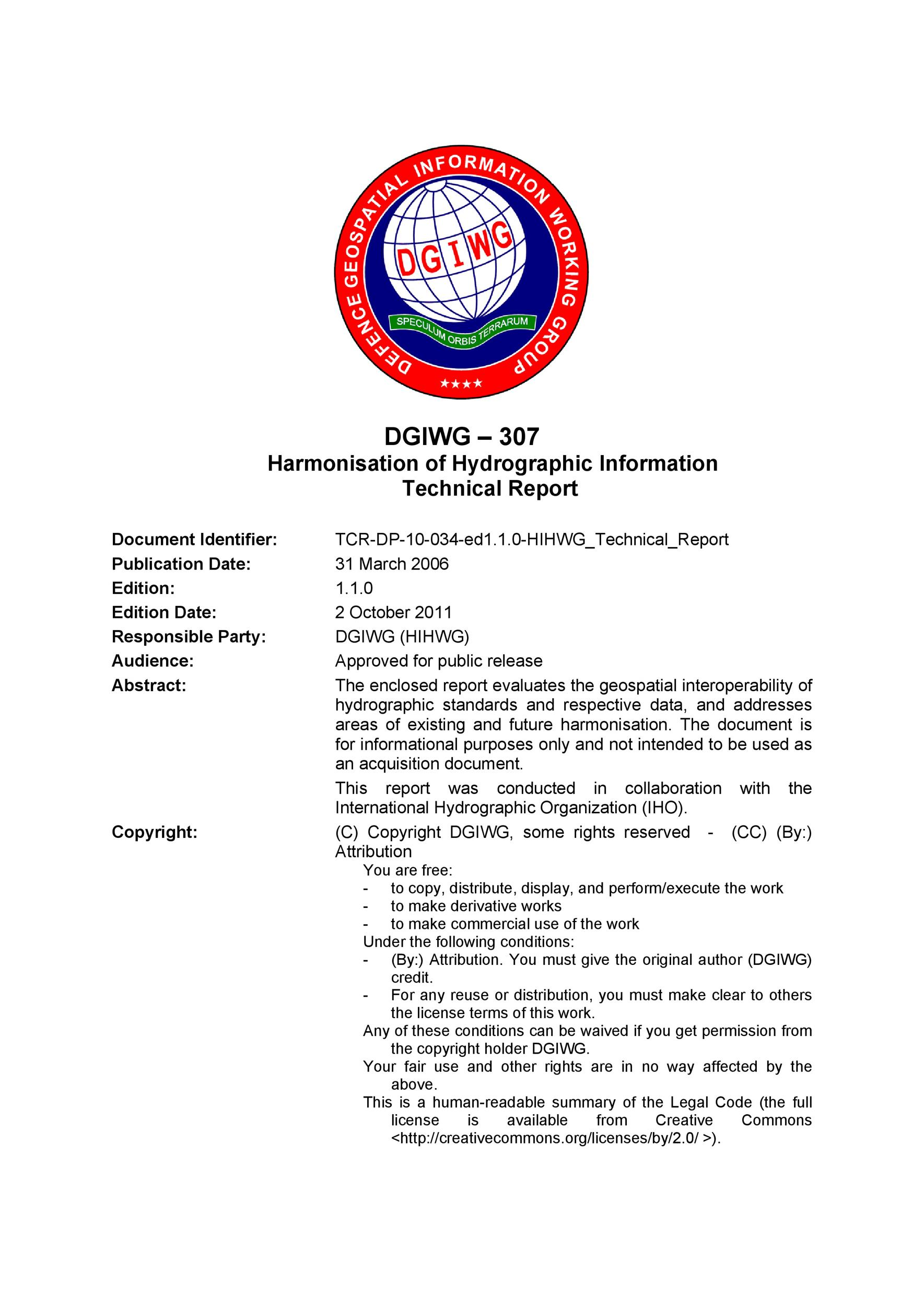 Free technical report template 12