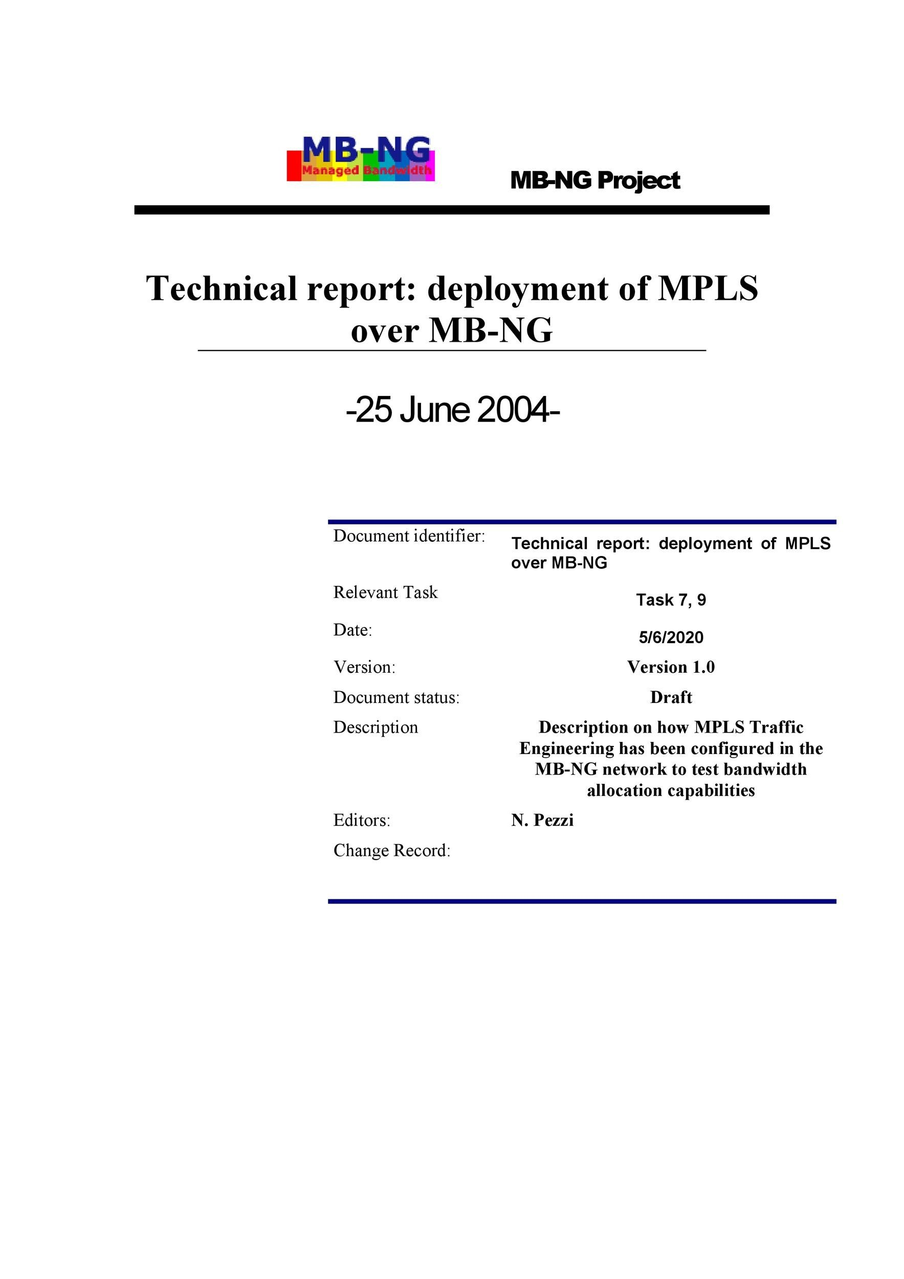 Free technical report template 15