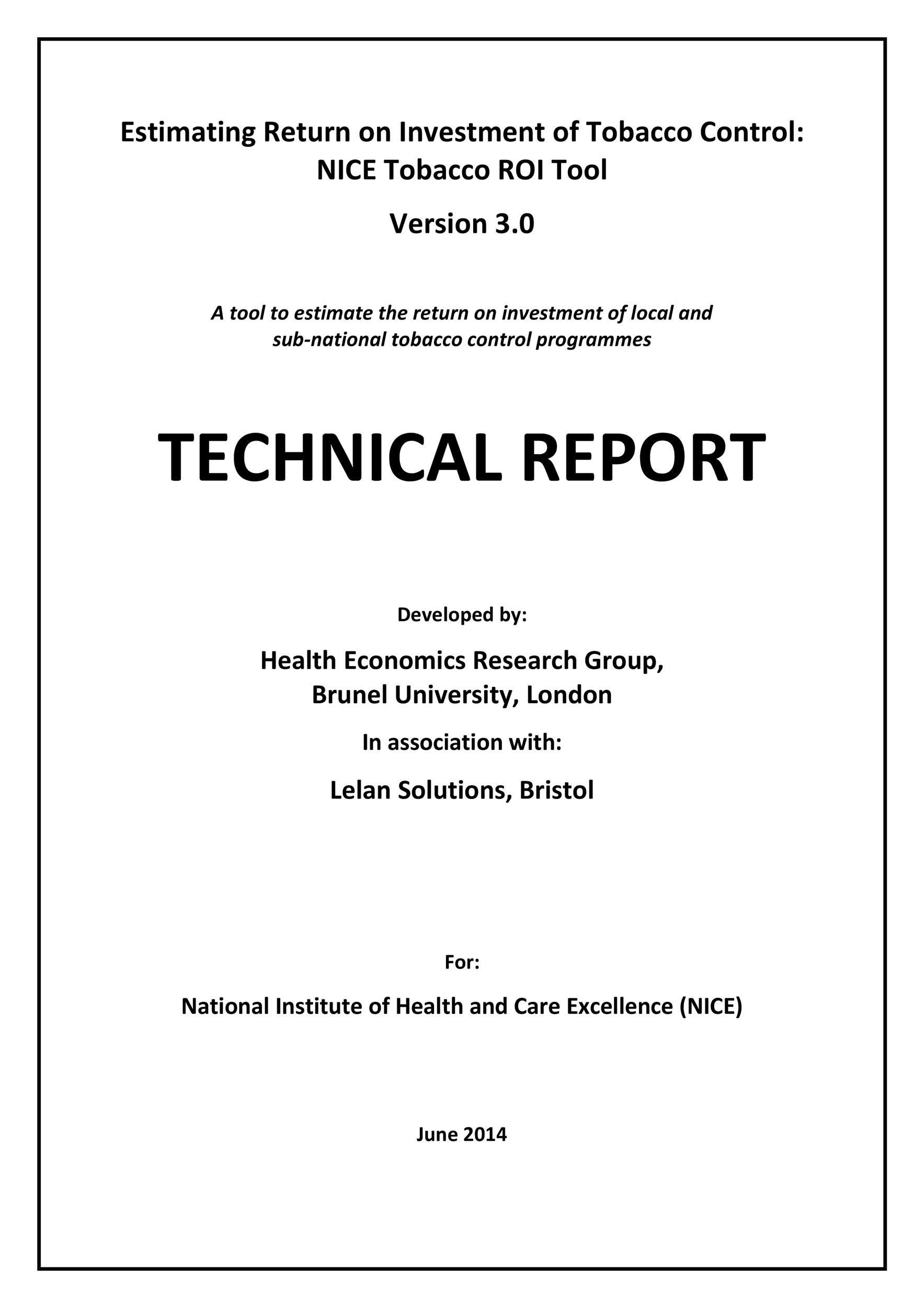 Free technical report template 17
