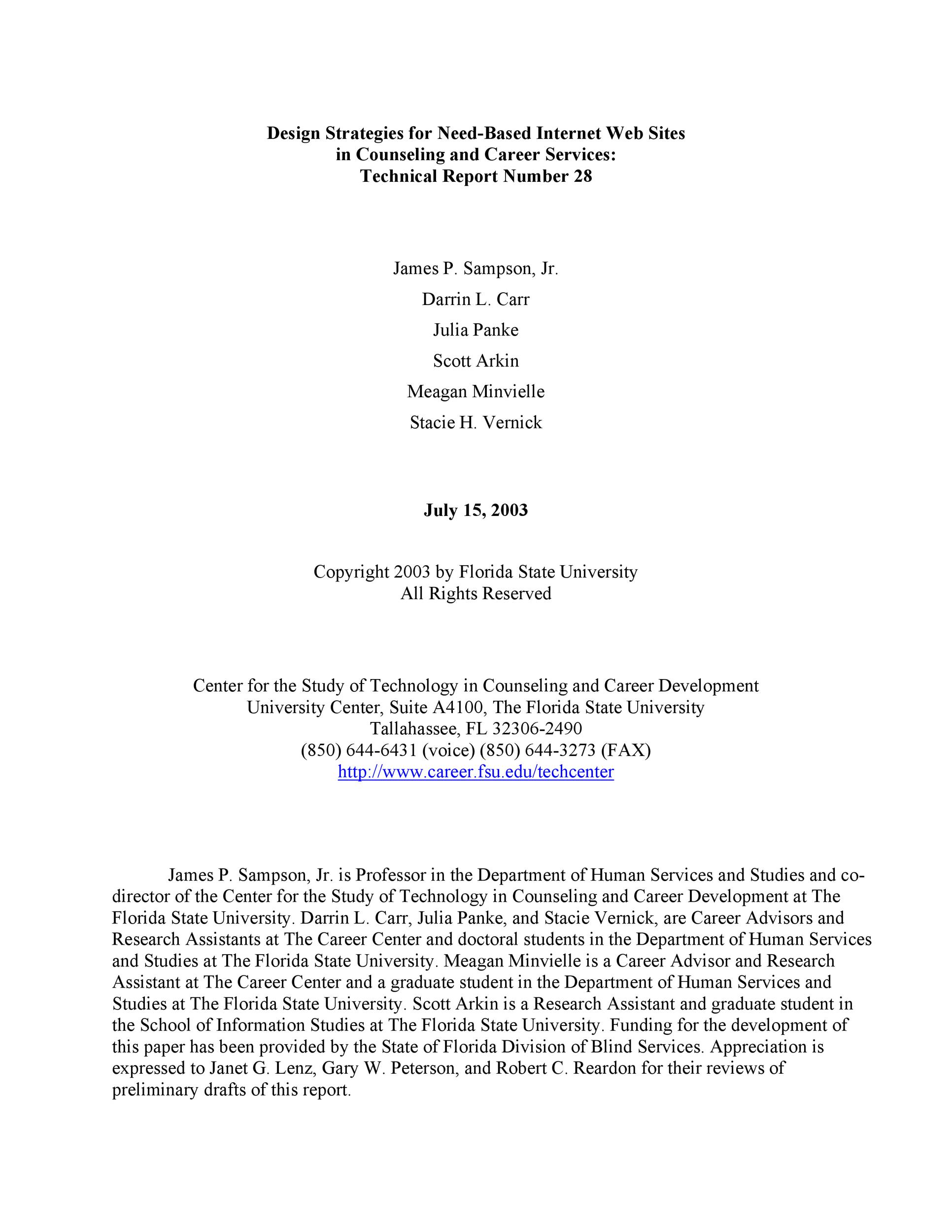 Free technical report template 34