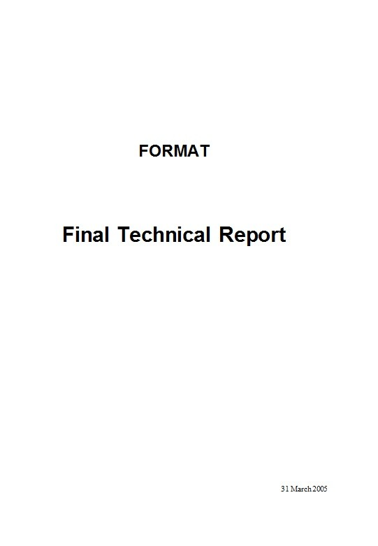 Free technical report template 35