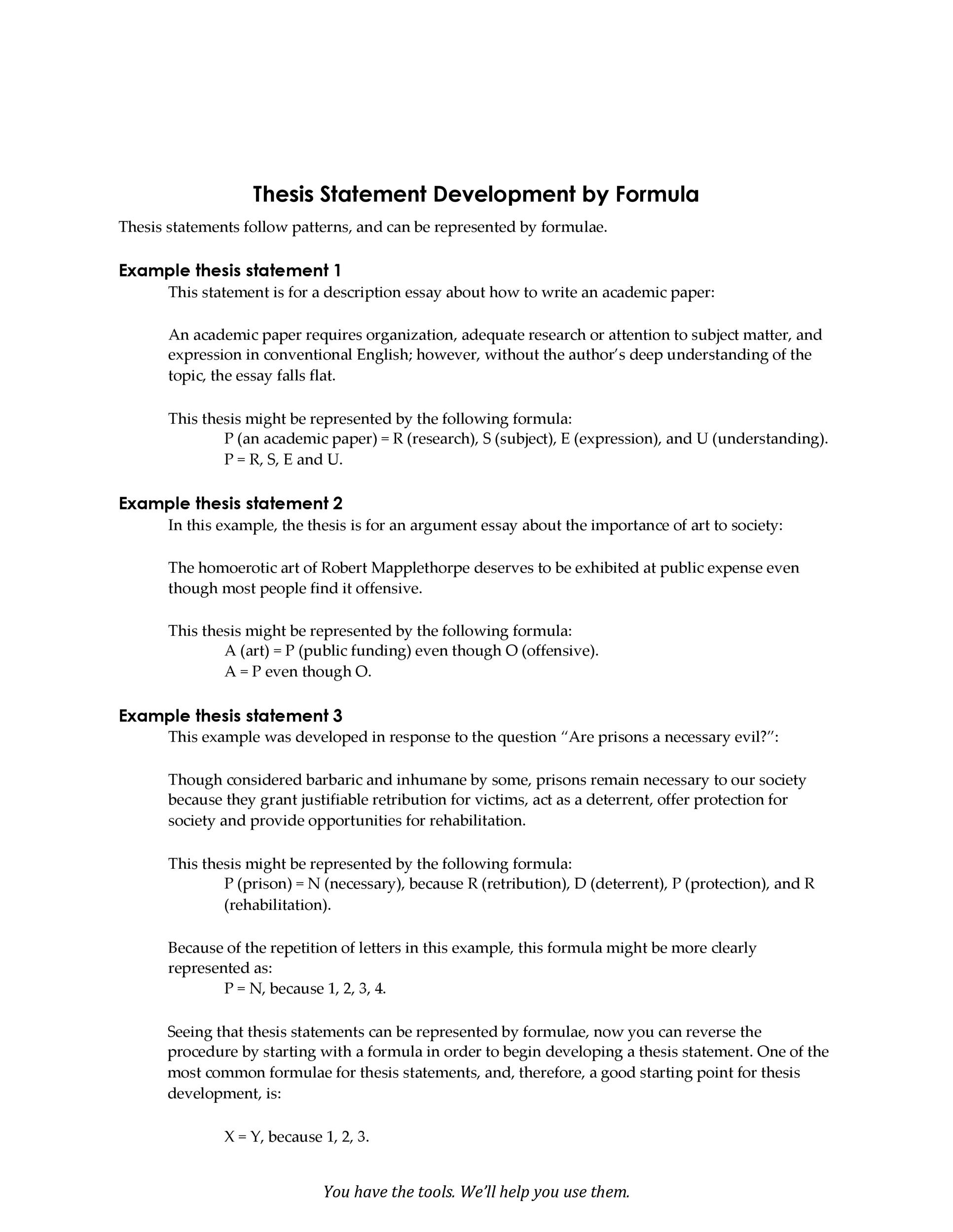 Free thesis statement template 04