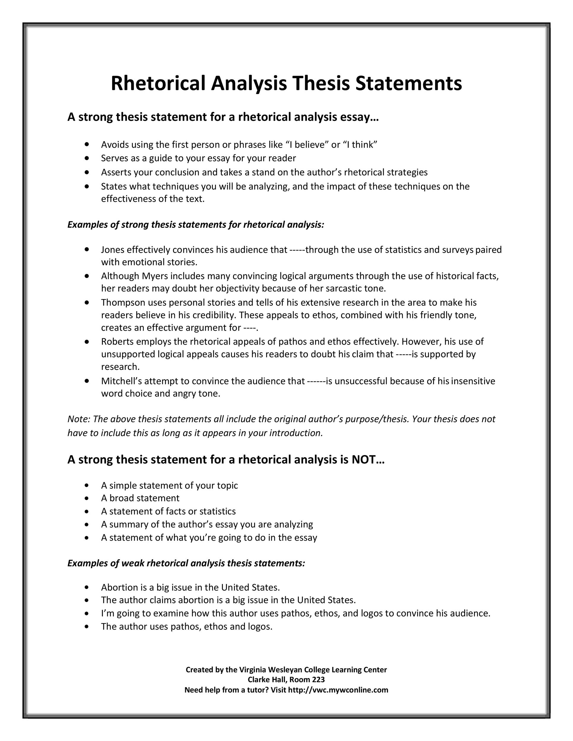 perfect thesis statement templates  examples