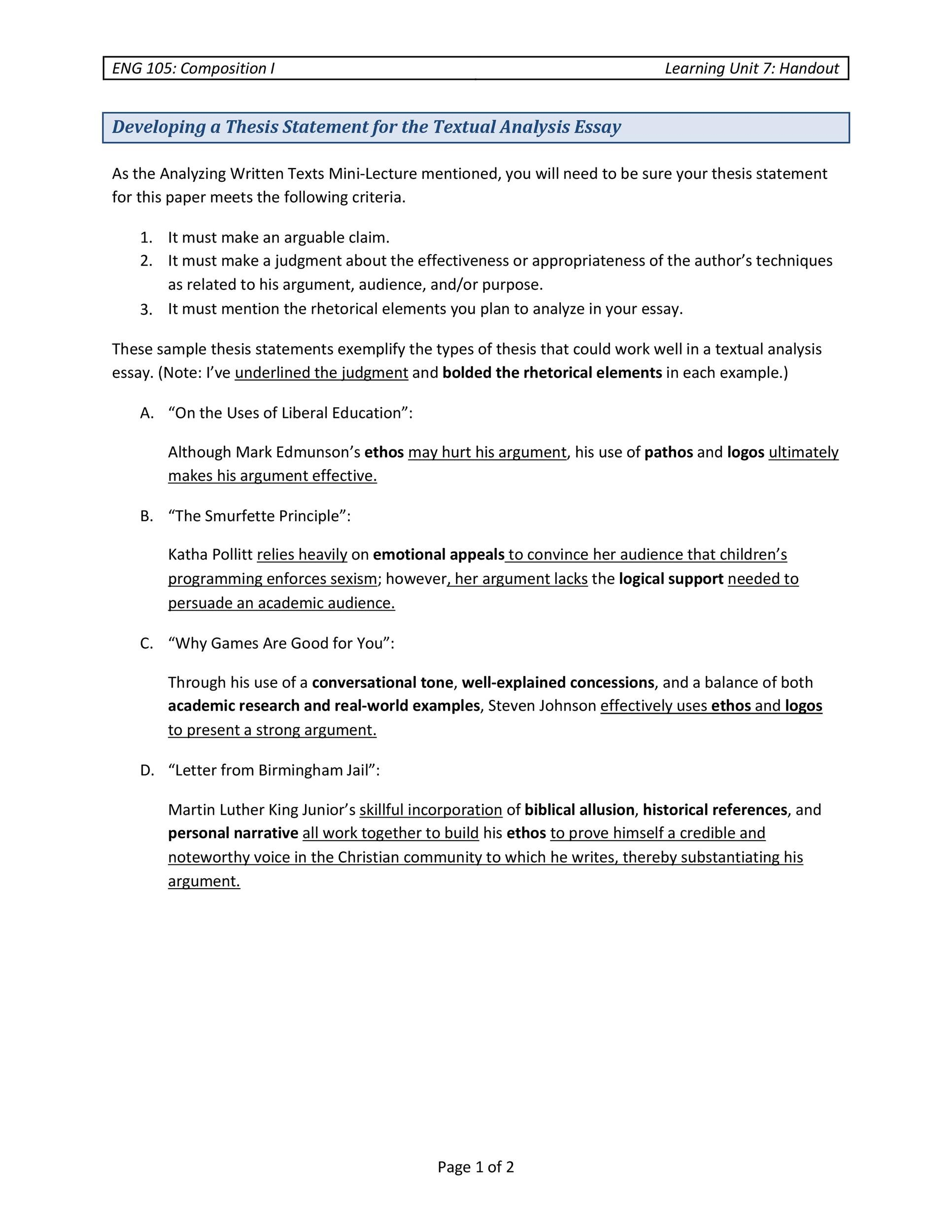 Free thesis statement template 35