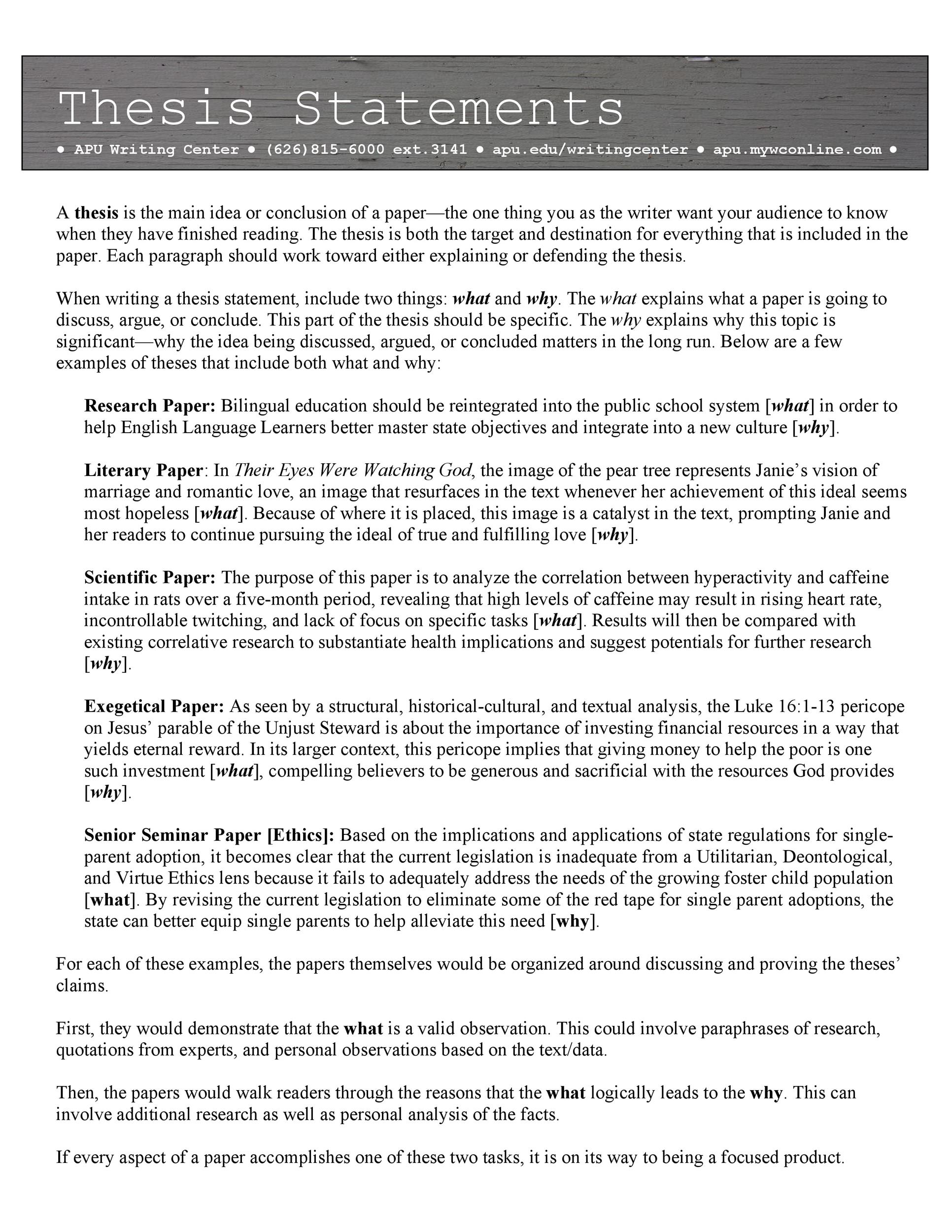 Free thesis statement template 38