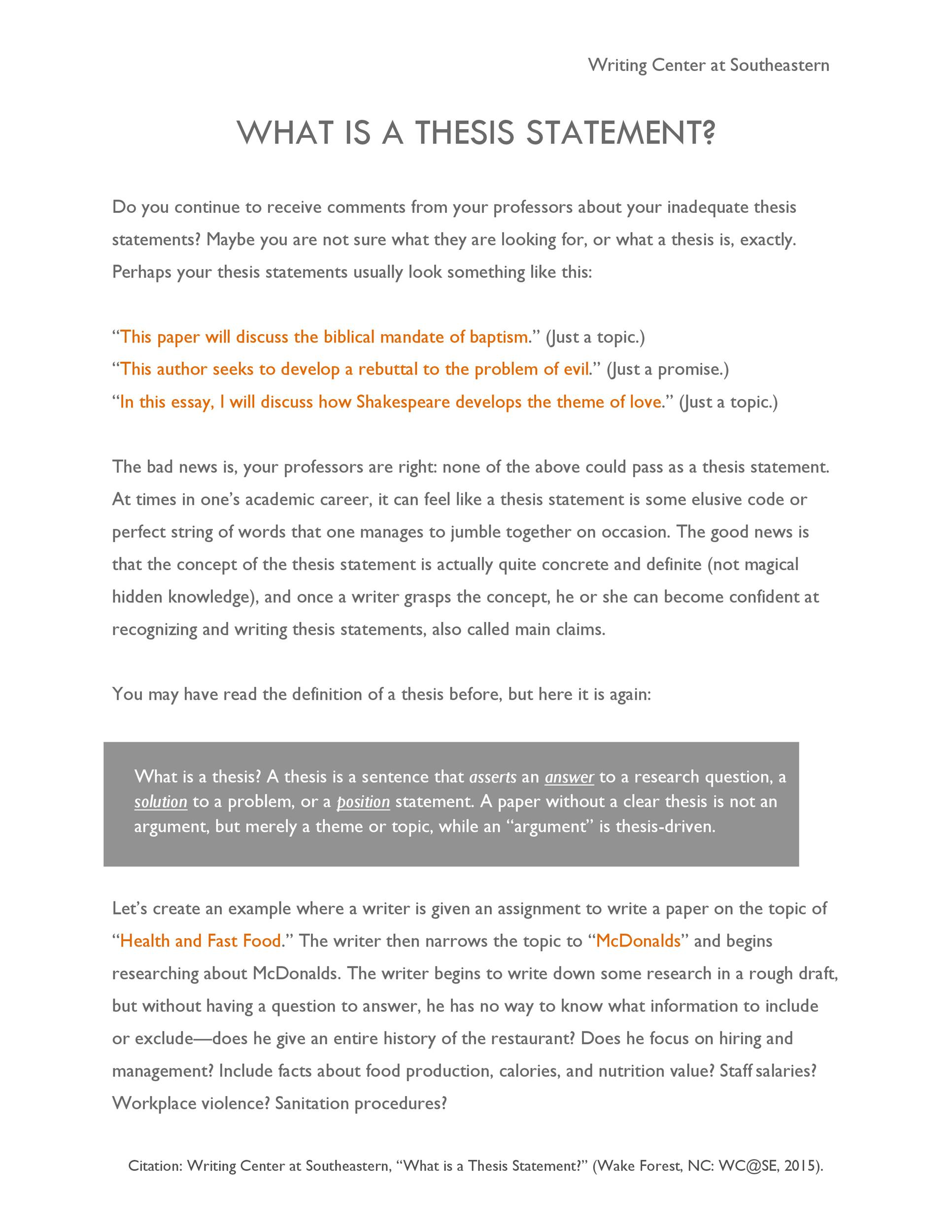 Free thesis statement template 43