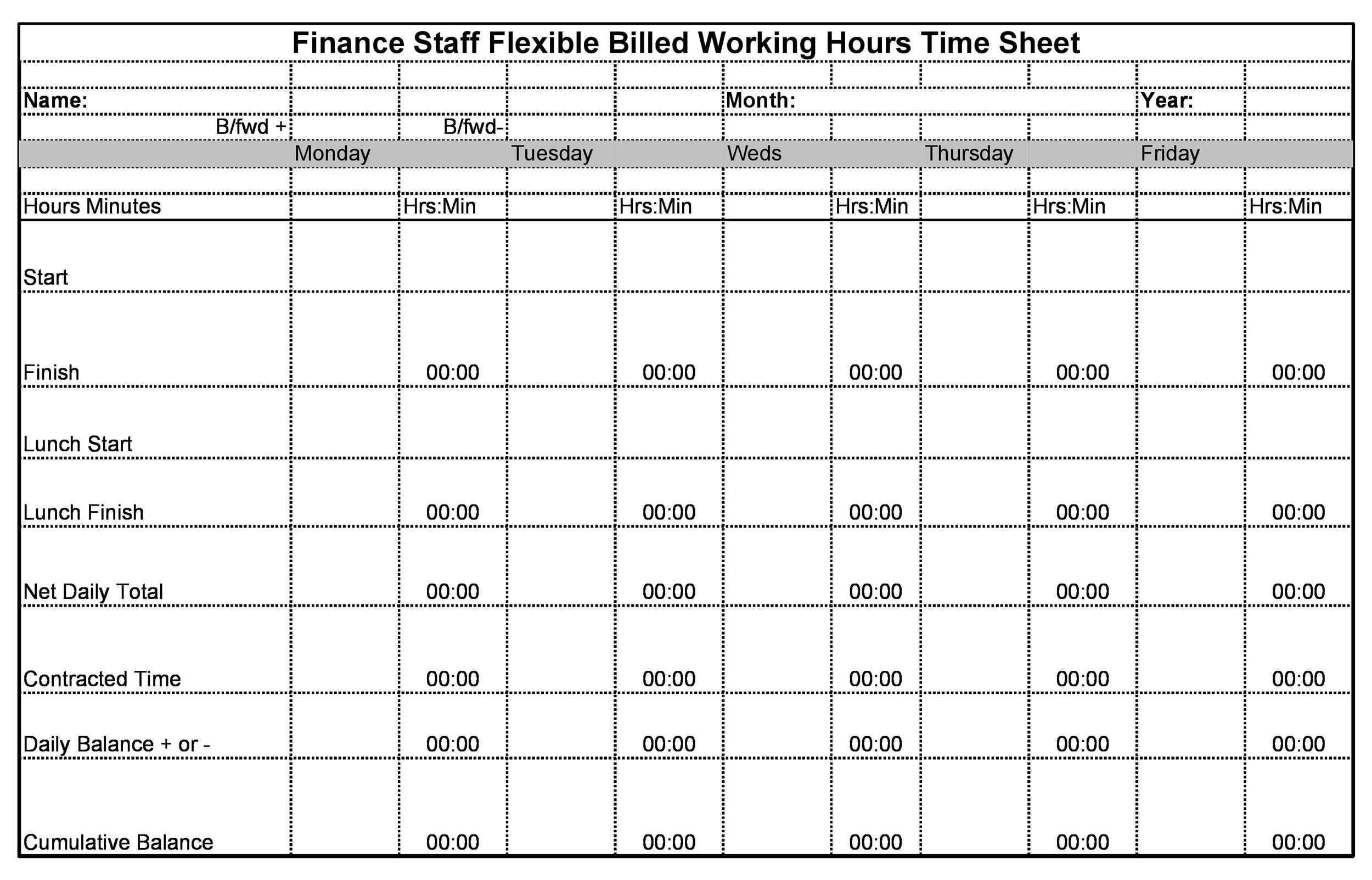 Free time tracking spreadsheet 37