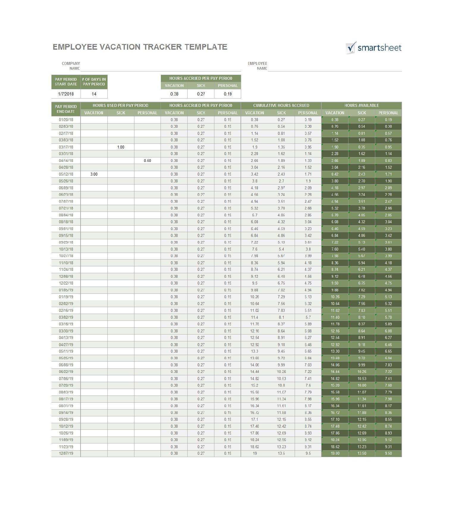 Free vacation tracker 11