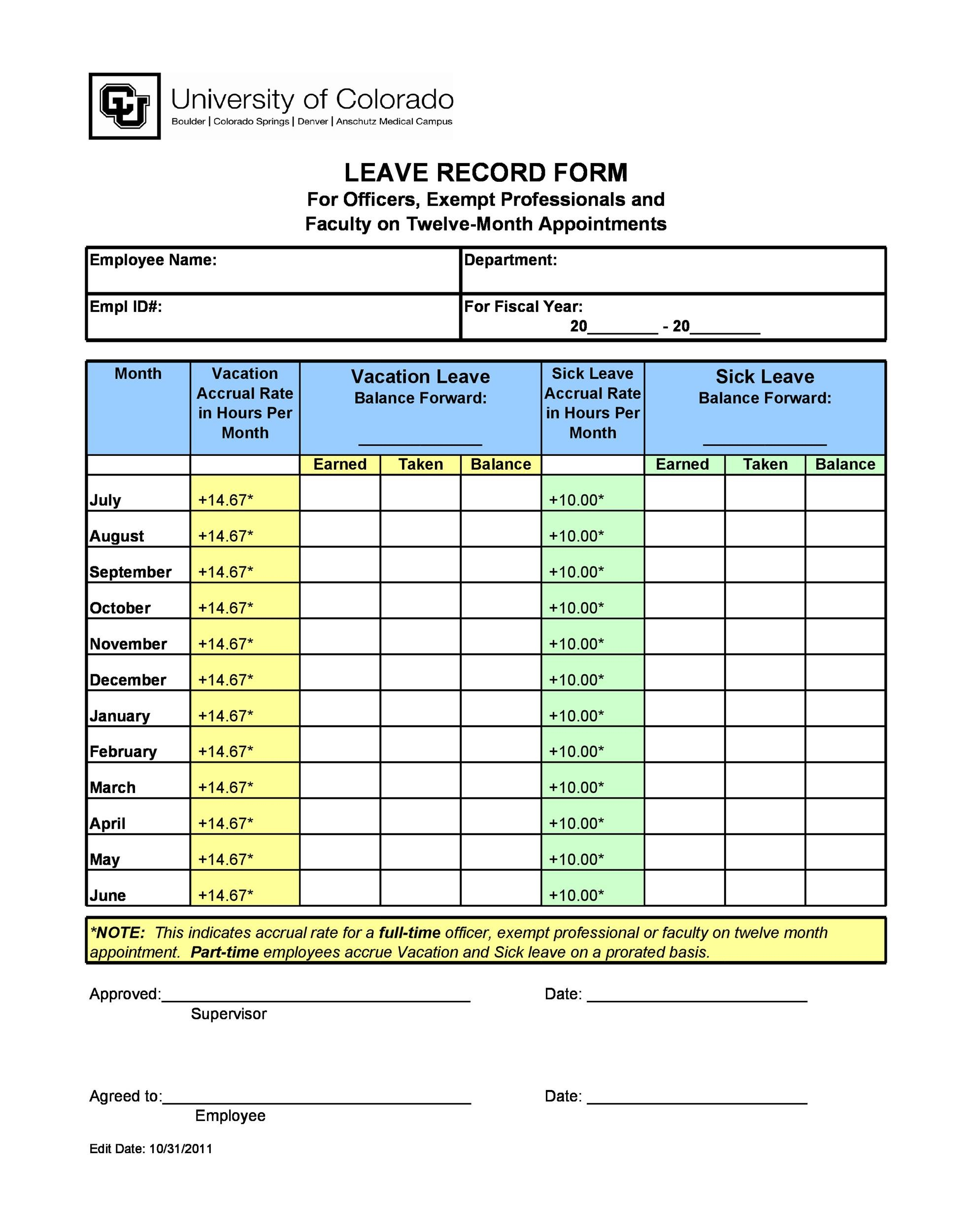 49 employee vacation trackers  excel  u0026 word   u1405 templatelab