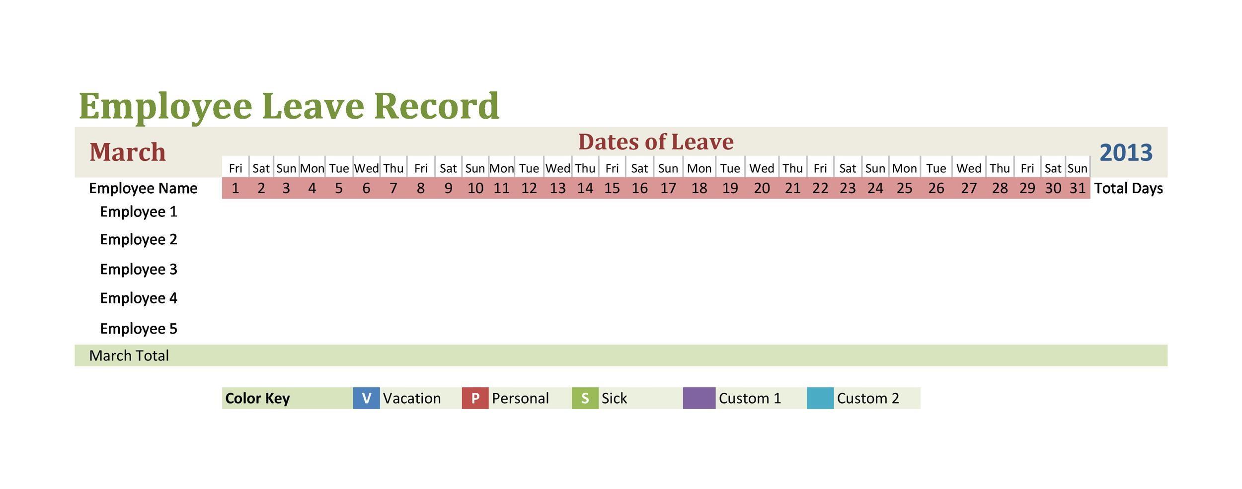 Free vacation tracker 21