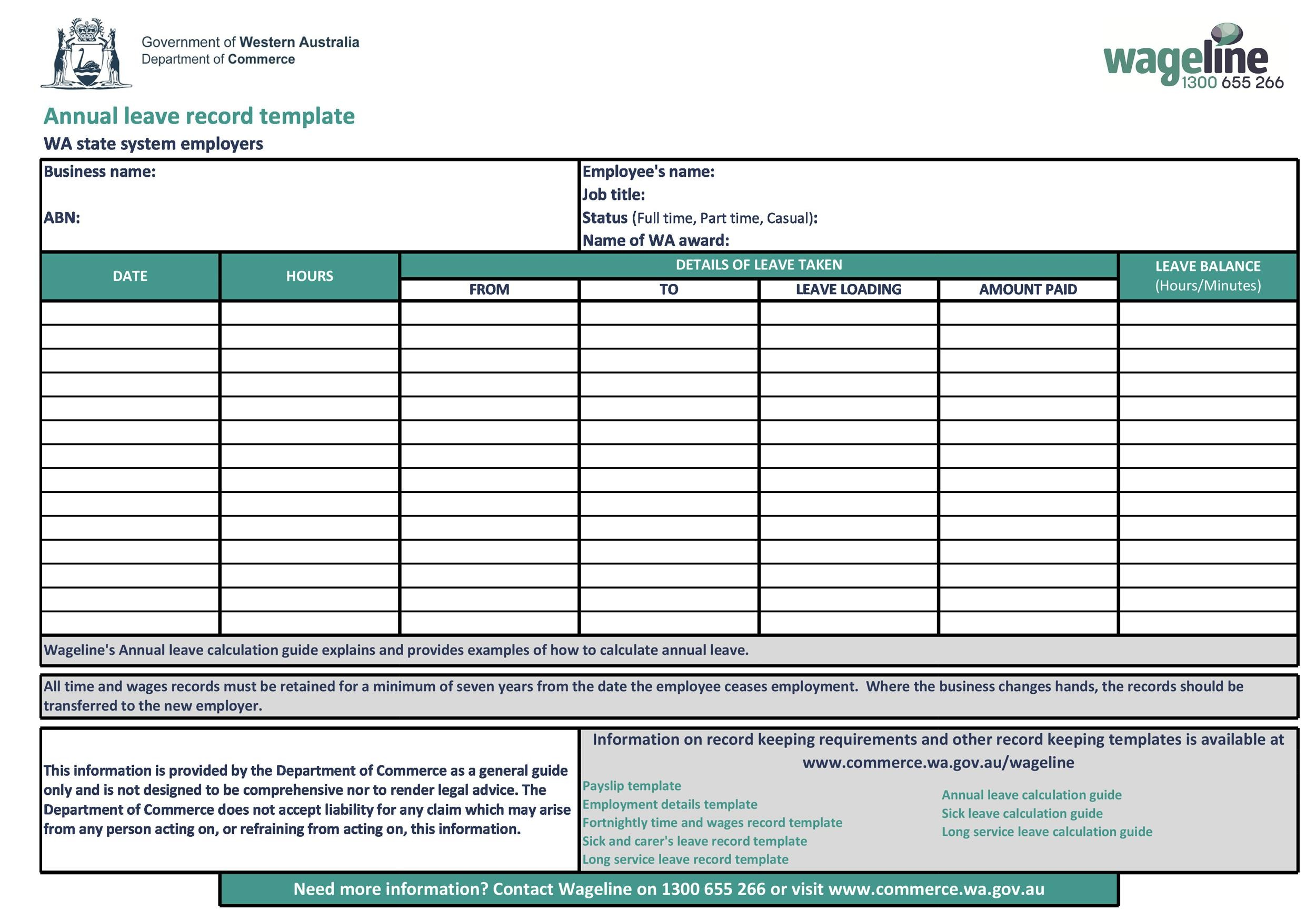 Sample Excel Templates: Free Employee Vacation Tracker ...